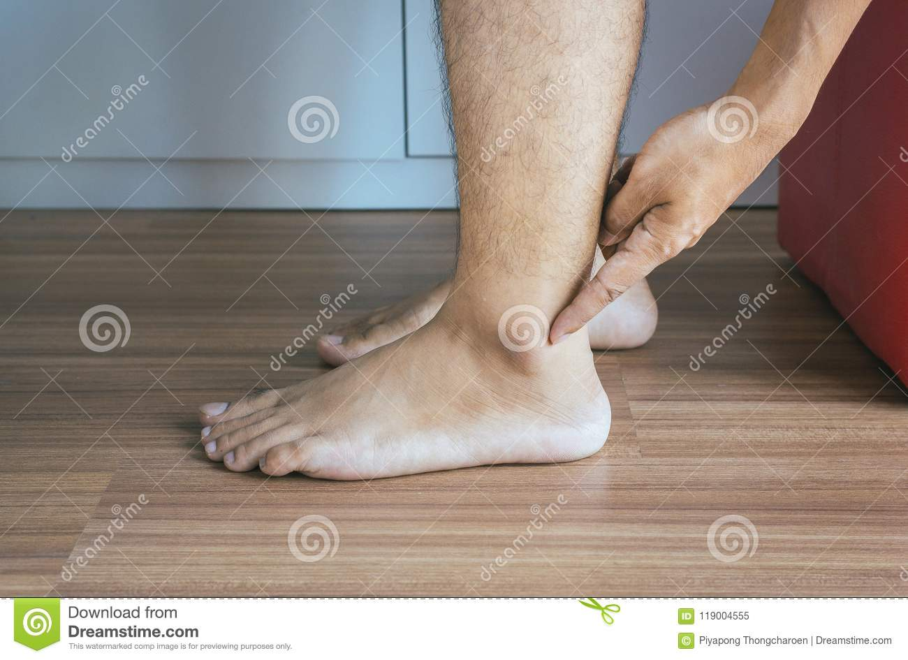 Man Dry Skin Or Pigmentation On Feet Or Foot With Ankleboneclose Upskin Health Concept