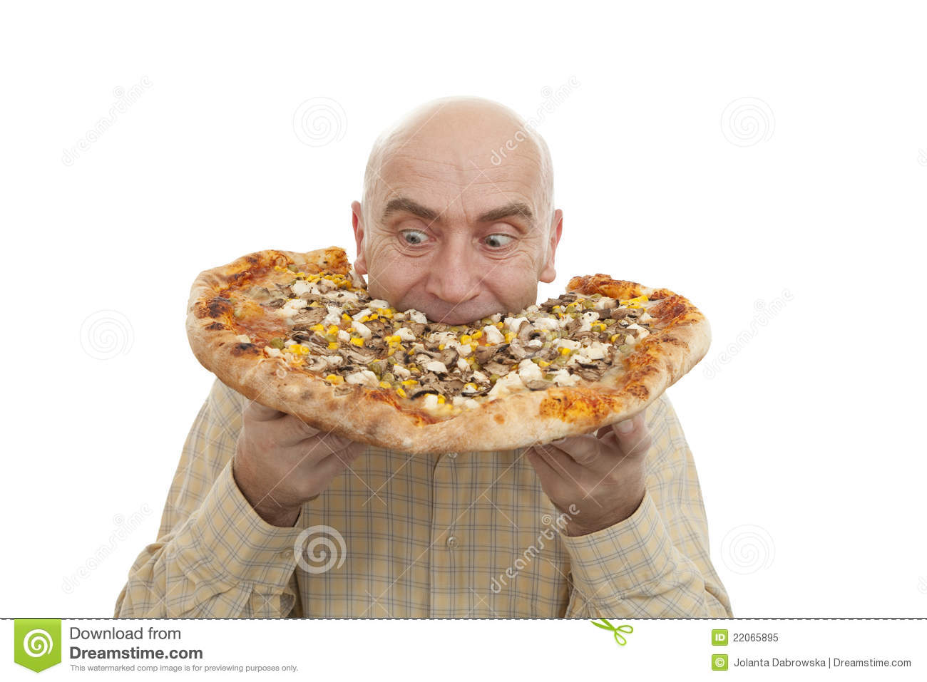 Man Eat Pizza Royalty Free Stock Photo Image 22065895