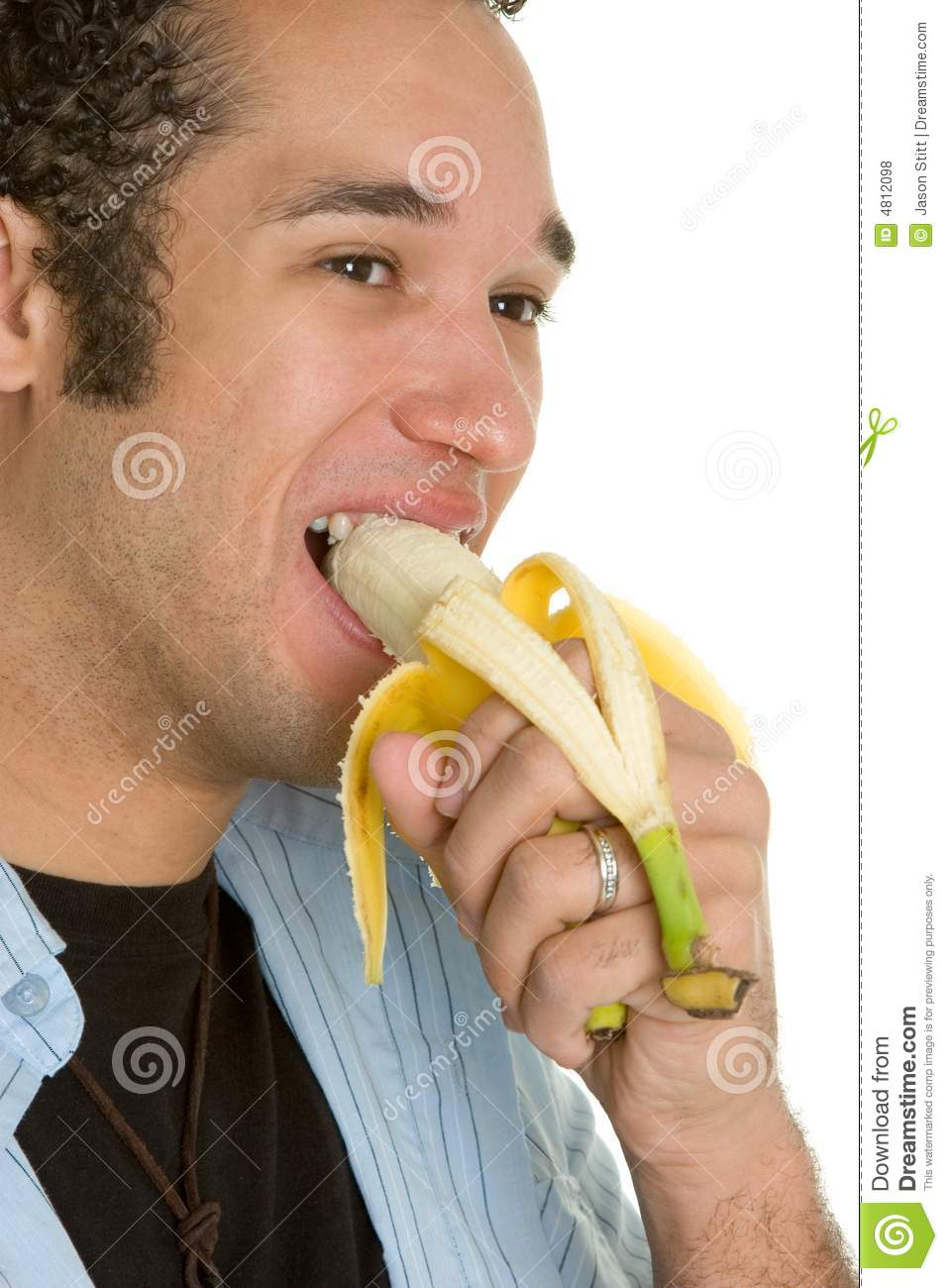 Man Eating Banana Royalty Free Stock Photos - Image: 4812098