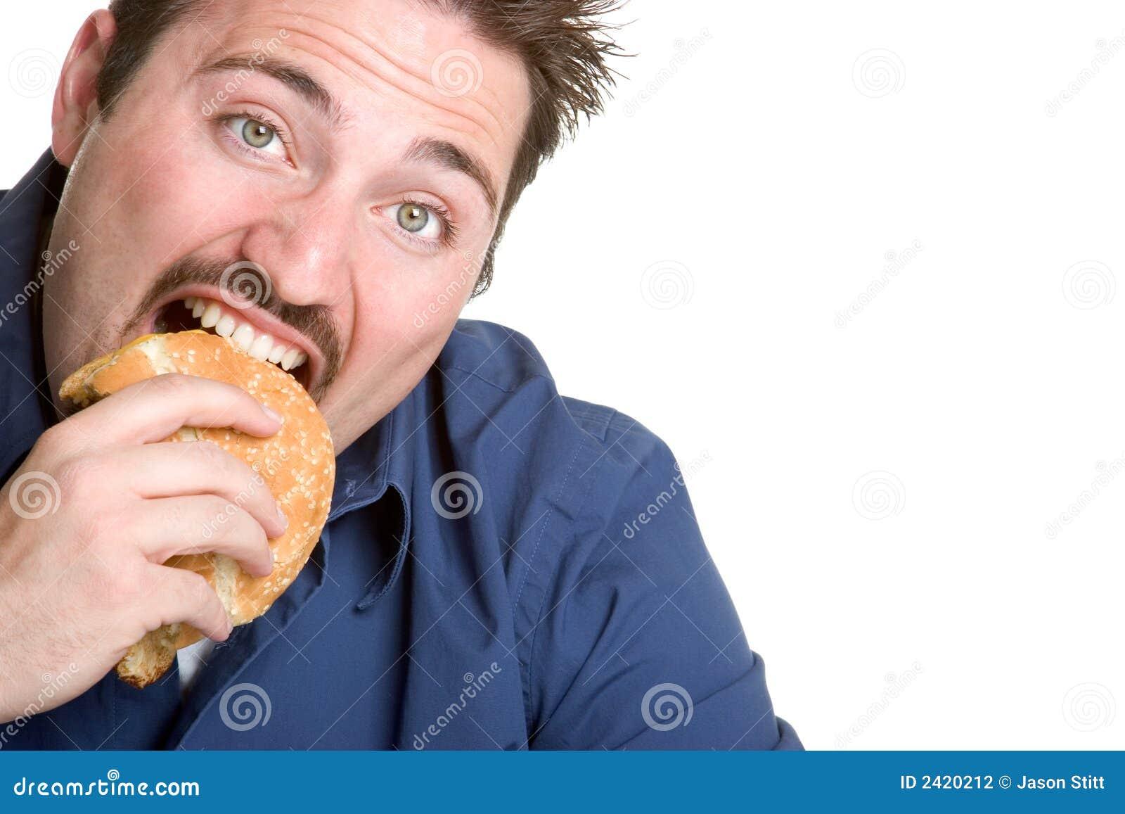 Man Eating Hamburger Stock Photography - Image: 2420212