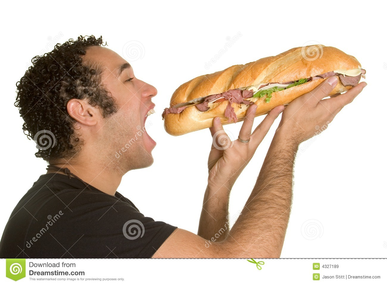 Man Eating Sandwich Royalty Free Stock Images - Image: 4327189