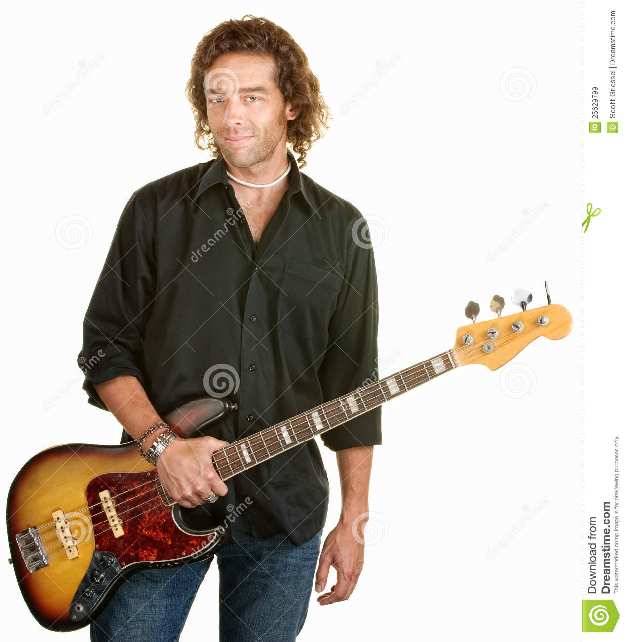 man with electric guitar royalty free stock images image 25629799. Black Bedroom Furniture Sets. Home Design Ideas