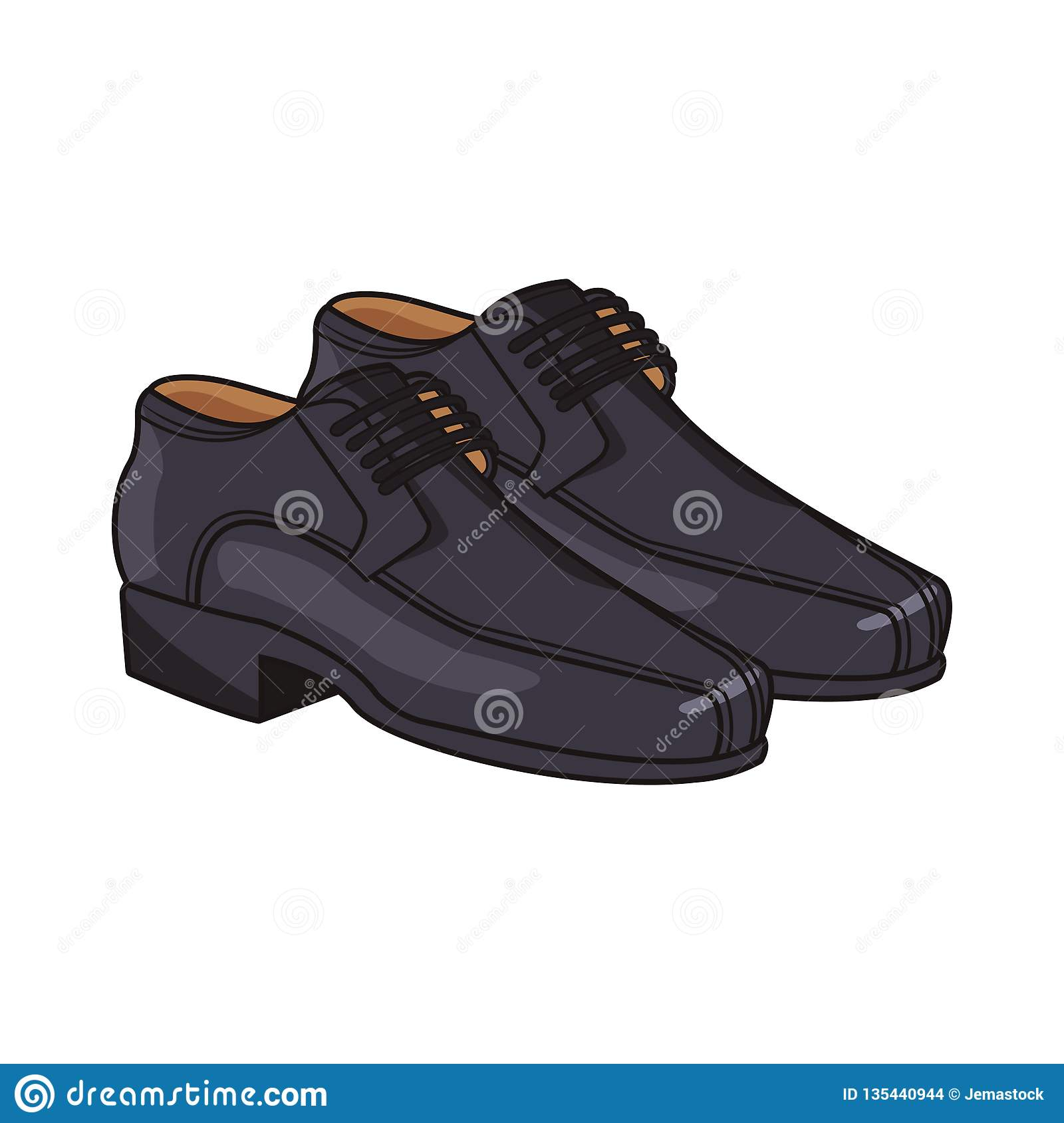 Man elegant shoes cartoon