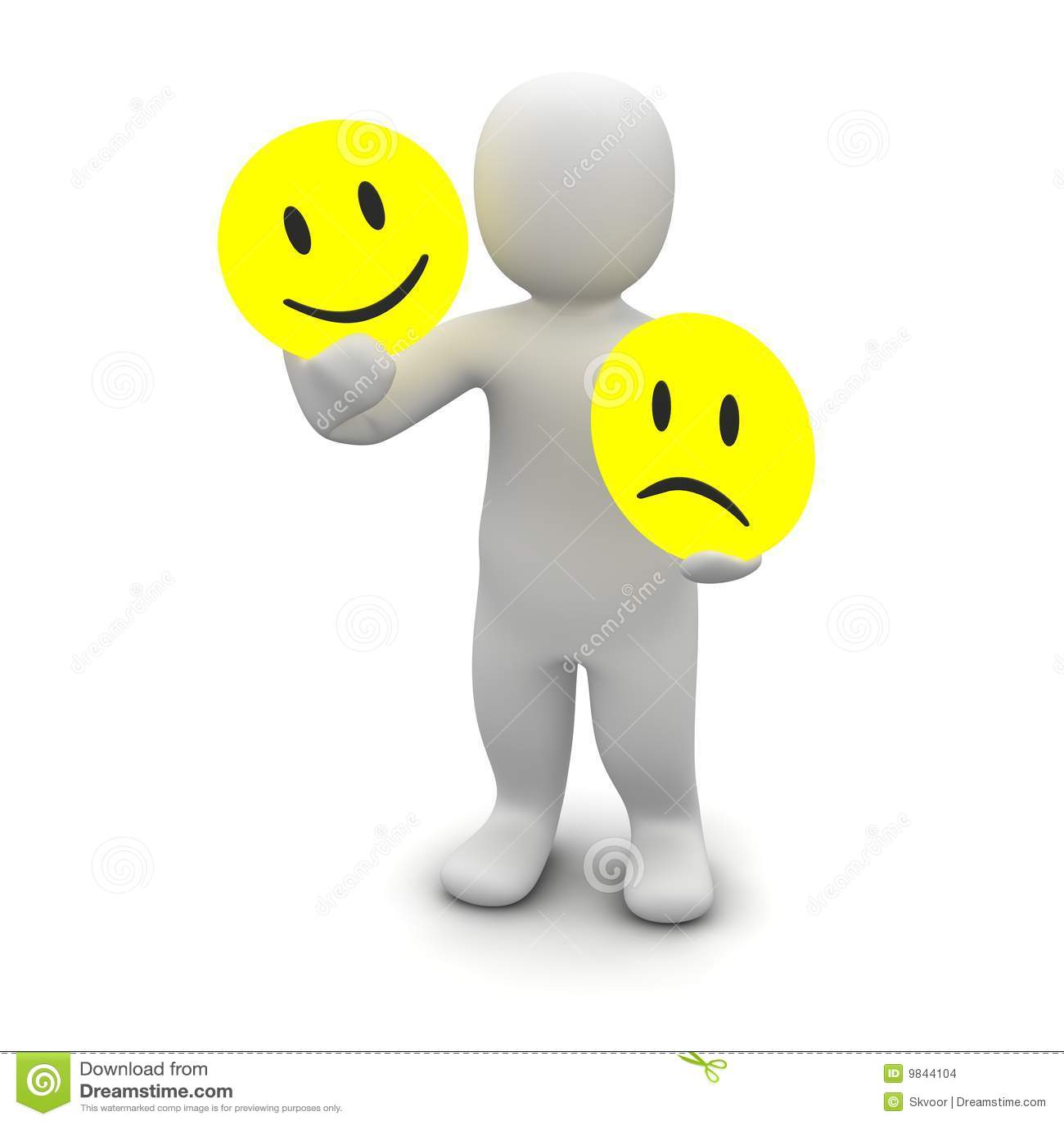 Man With Emotions Symbols Stock Illustration Illustration Of Human