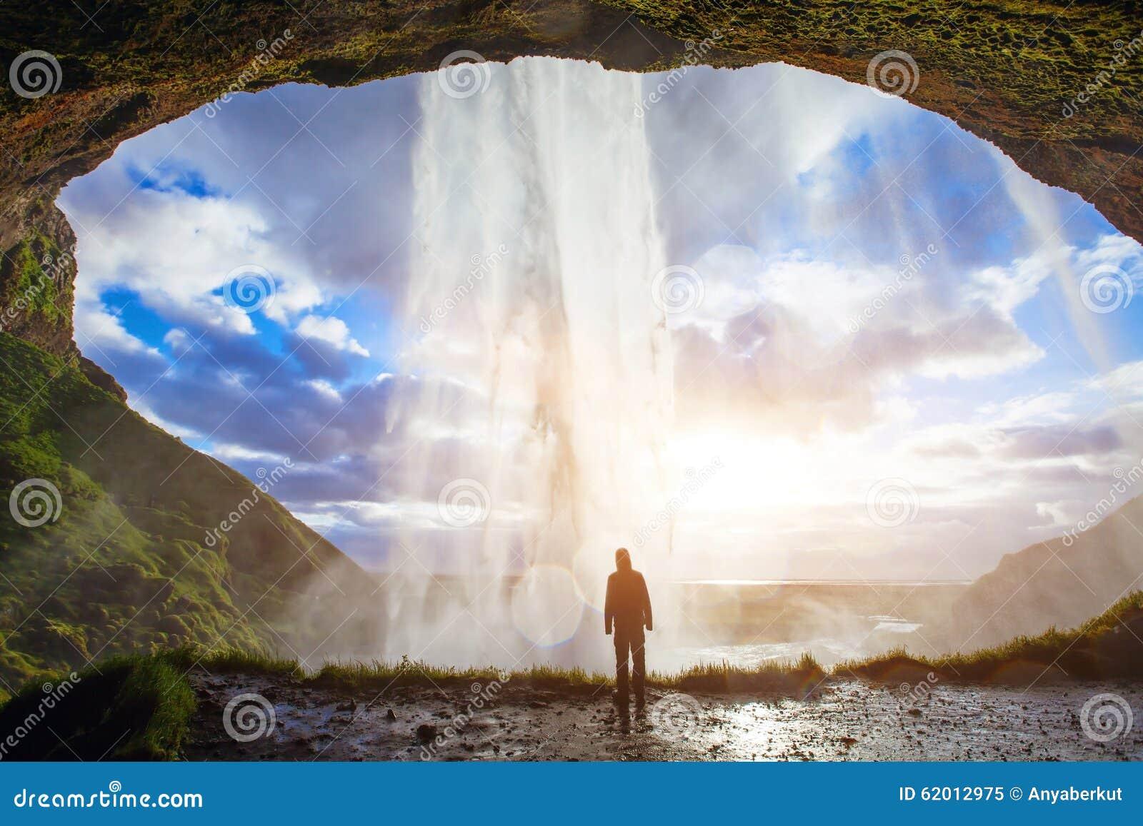 Nature Images 2mb: Man Enjoying Amazing View Of Nature Stock Image