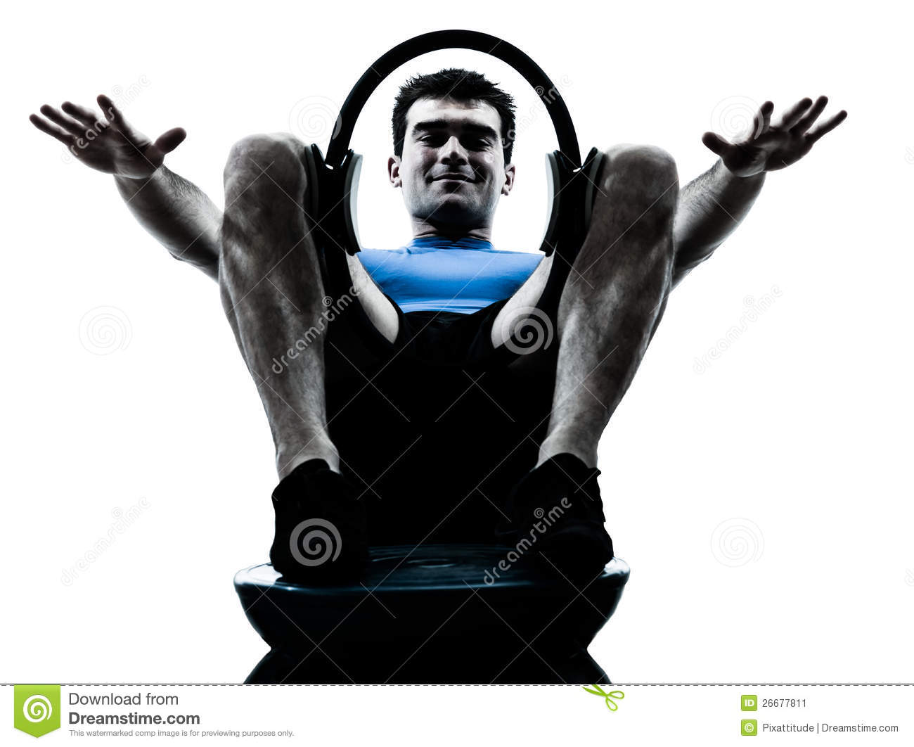 Man exercising ring workout fitness posture