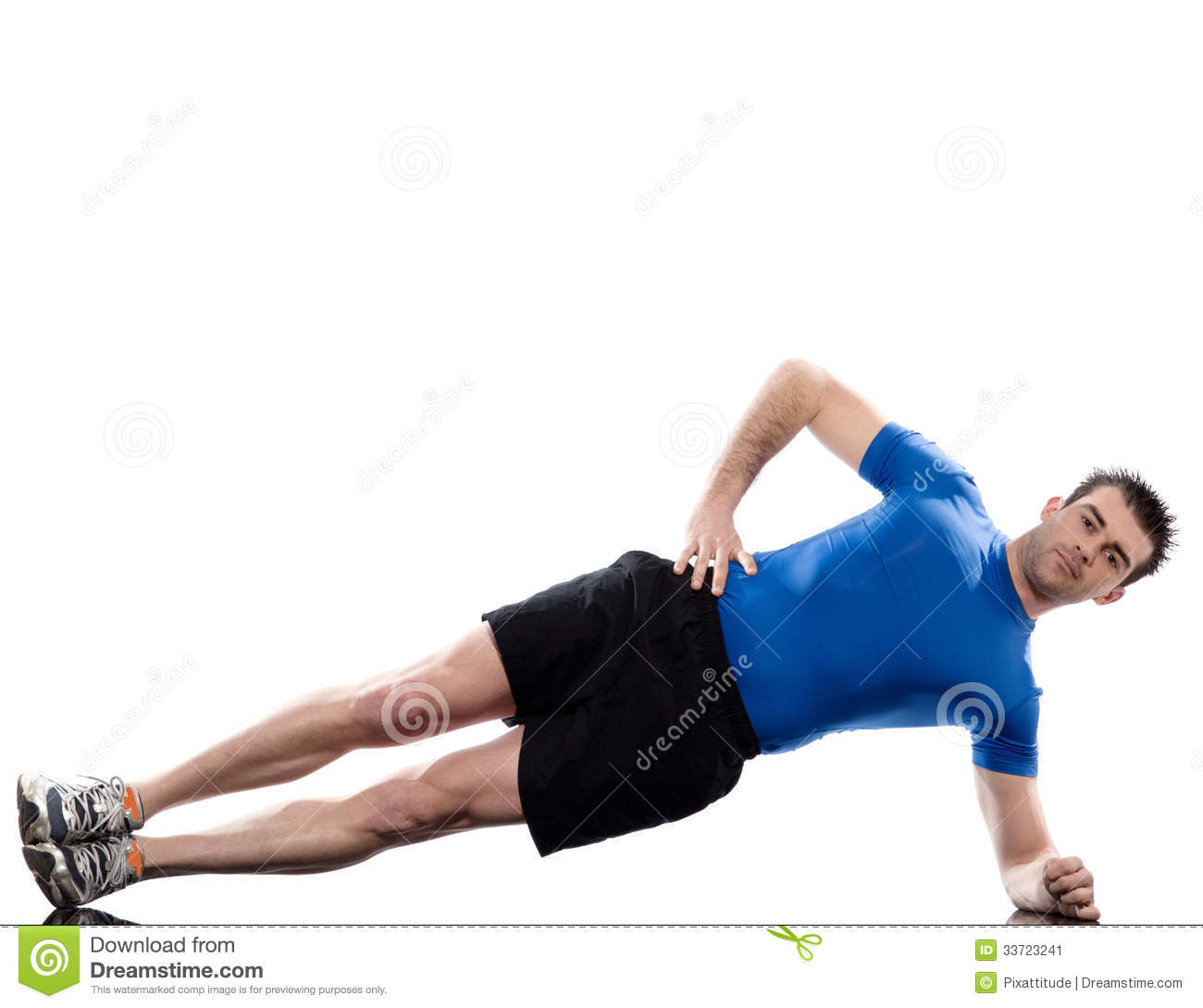 Man Exercising Workout Fitness Posture Abdominals Push Ups Stock Image ...