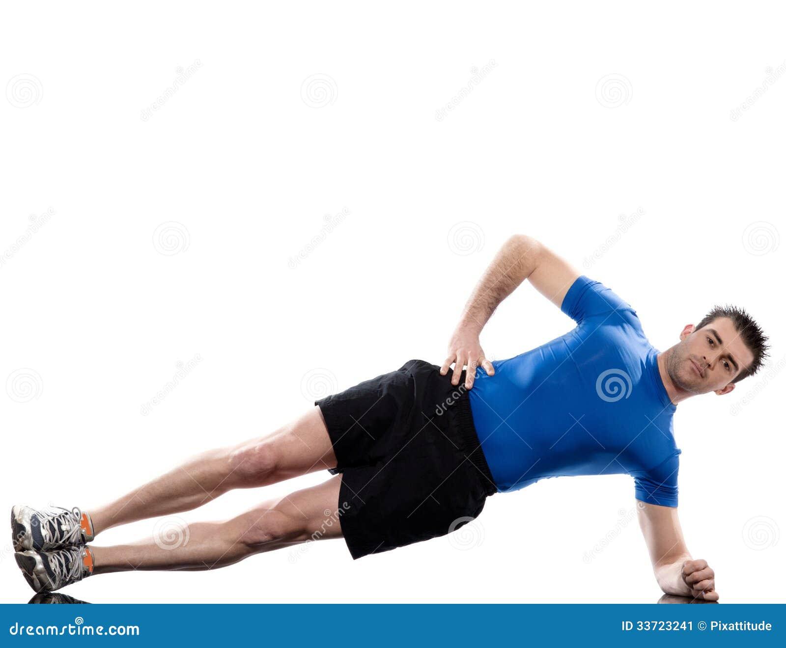 Man Exercising Workout Fitness Posture Abdominals Push Ups ...