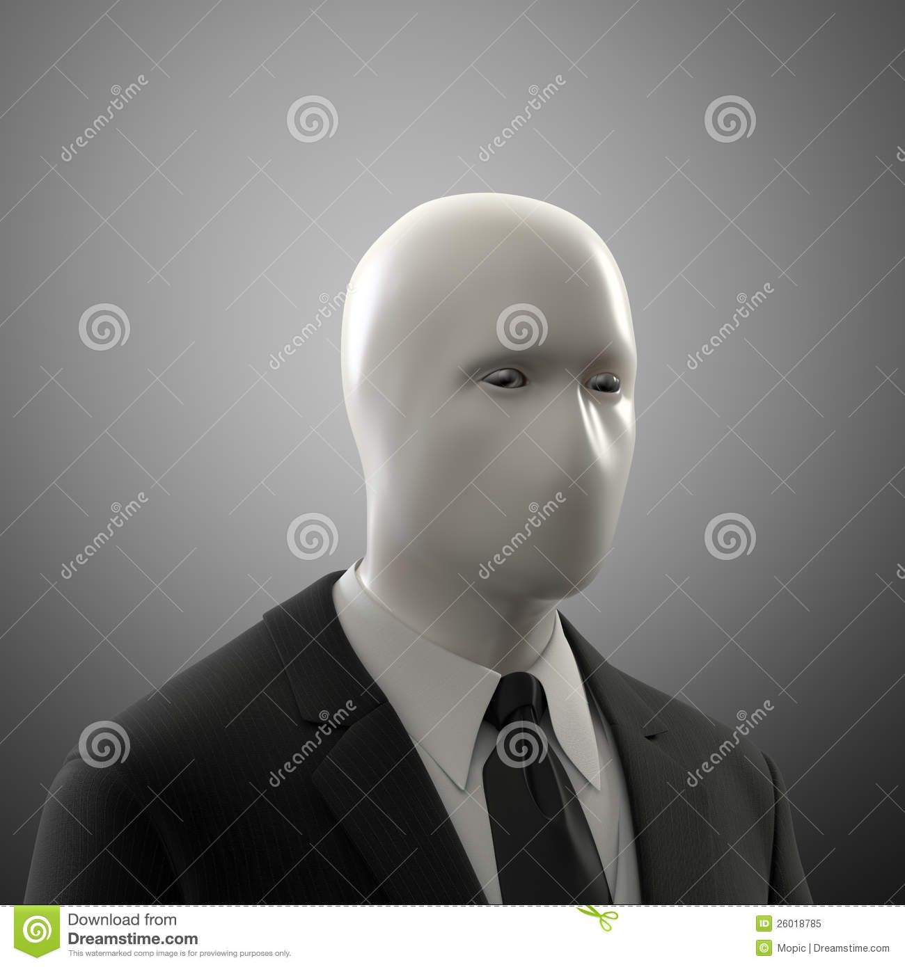 Man Without A Face Royalty Free Stock Photo
