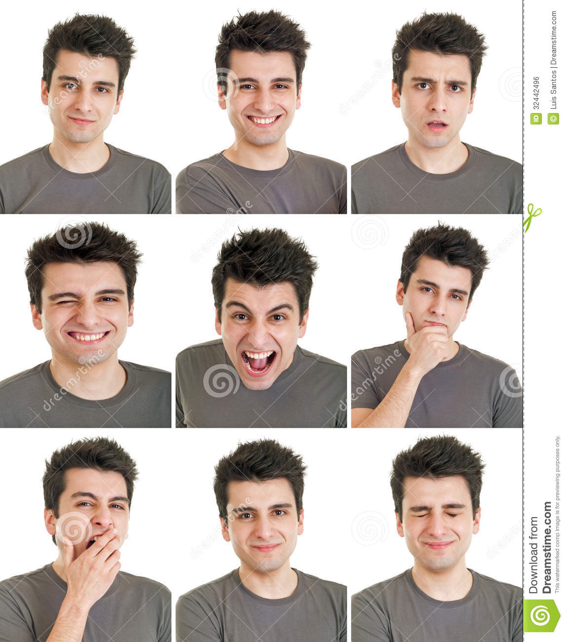 Man Face Expressions Stock Photo. Image Of Facial