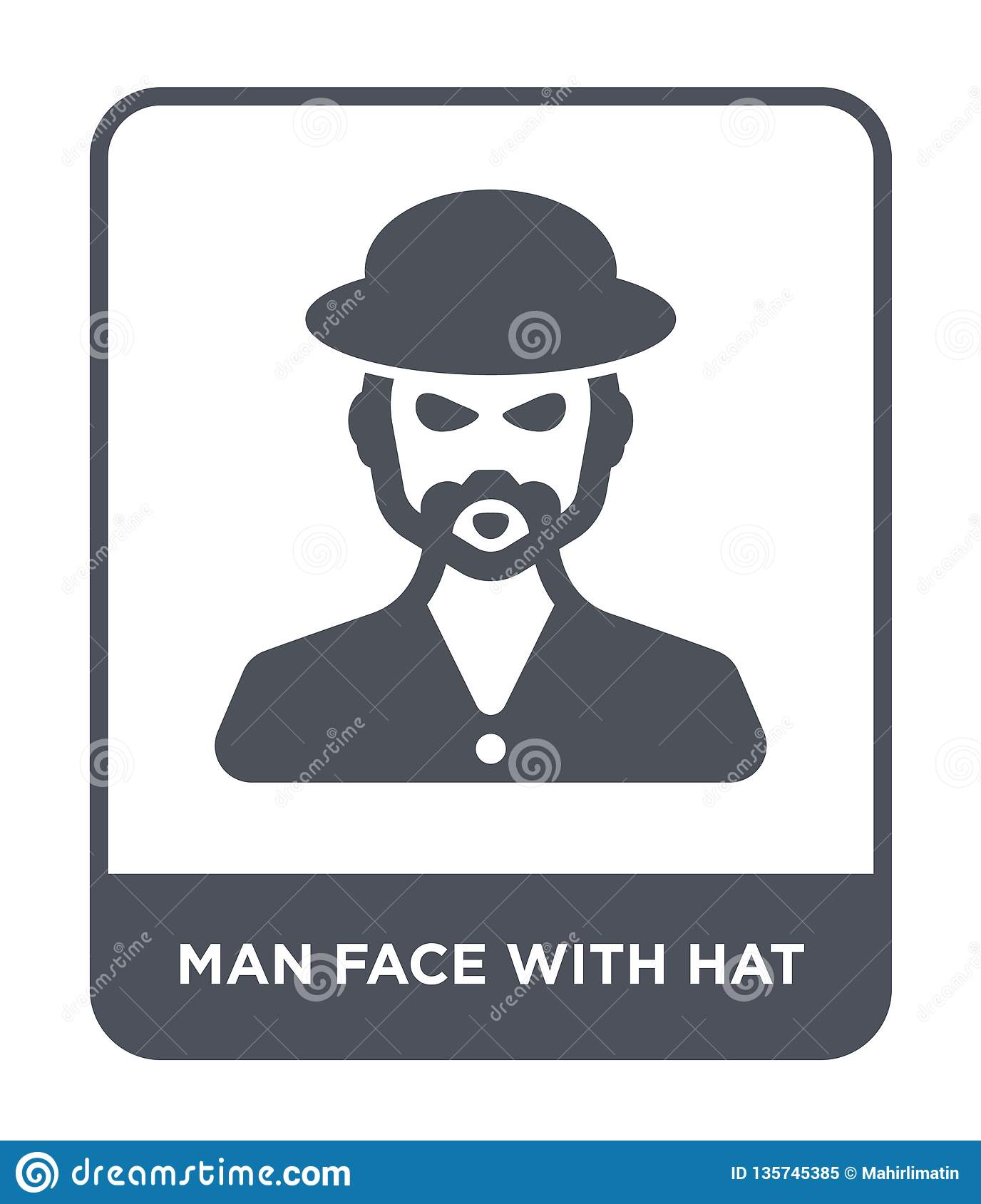 18a2162315908 man face with hat icon in trendy design style. man face with hat icon  isolated on white background. man face with hat vector icon simple and  modern flat ...