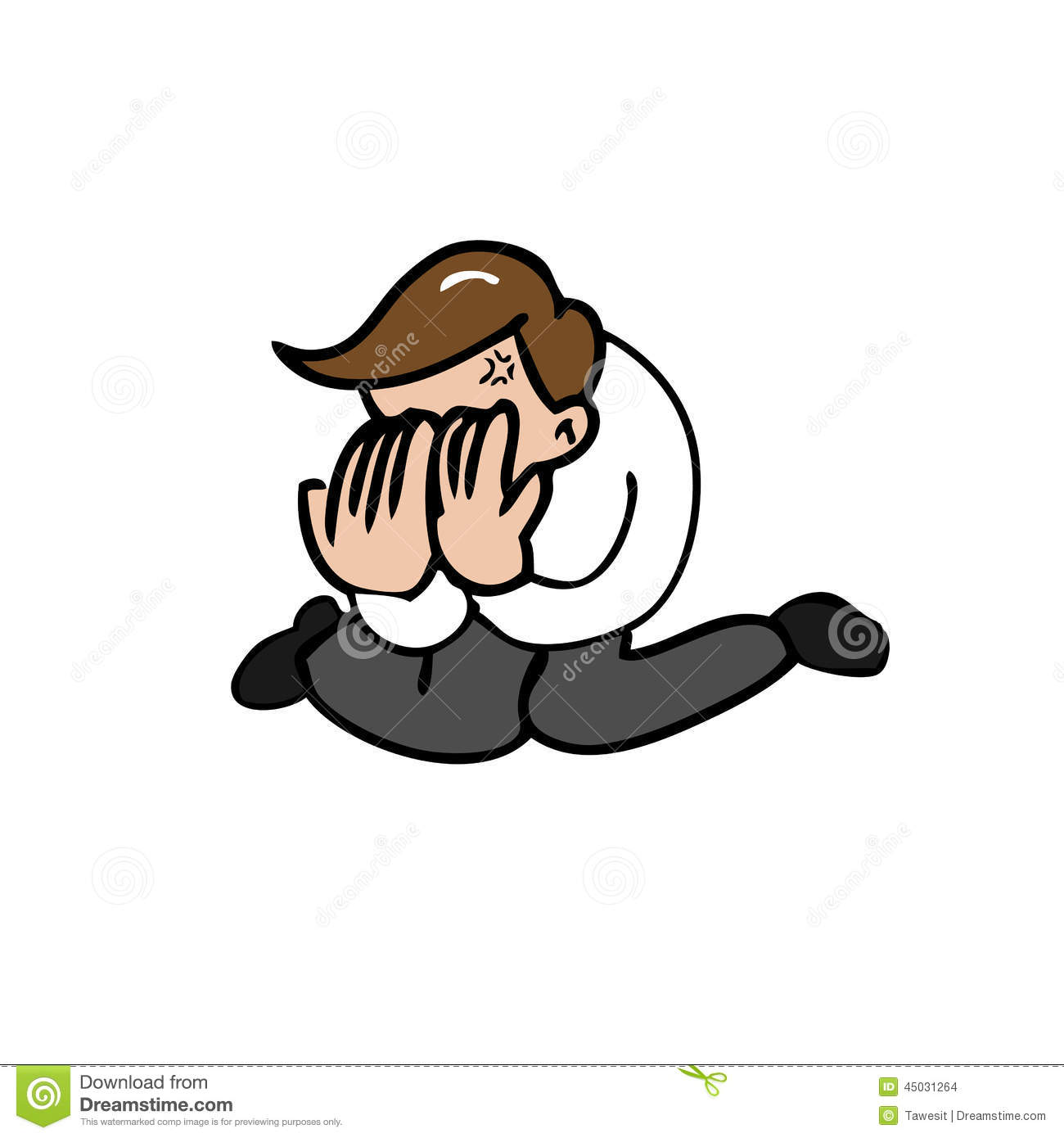 Man Face Palm Stock Vector Image 45031264