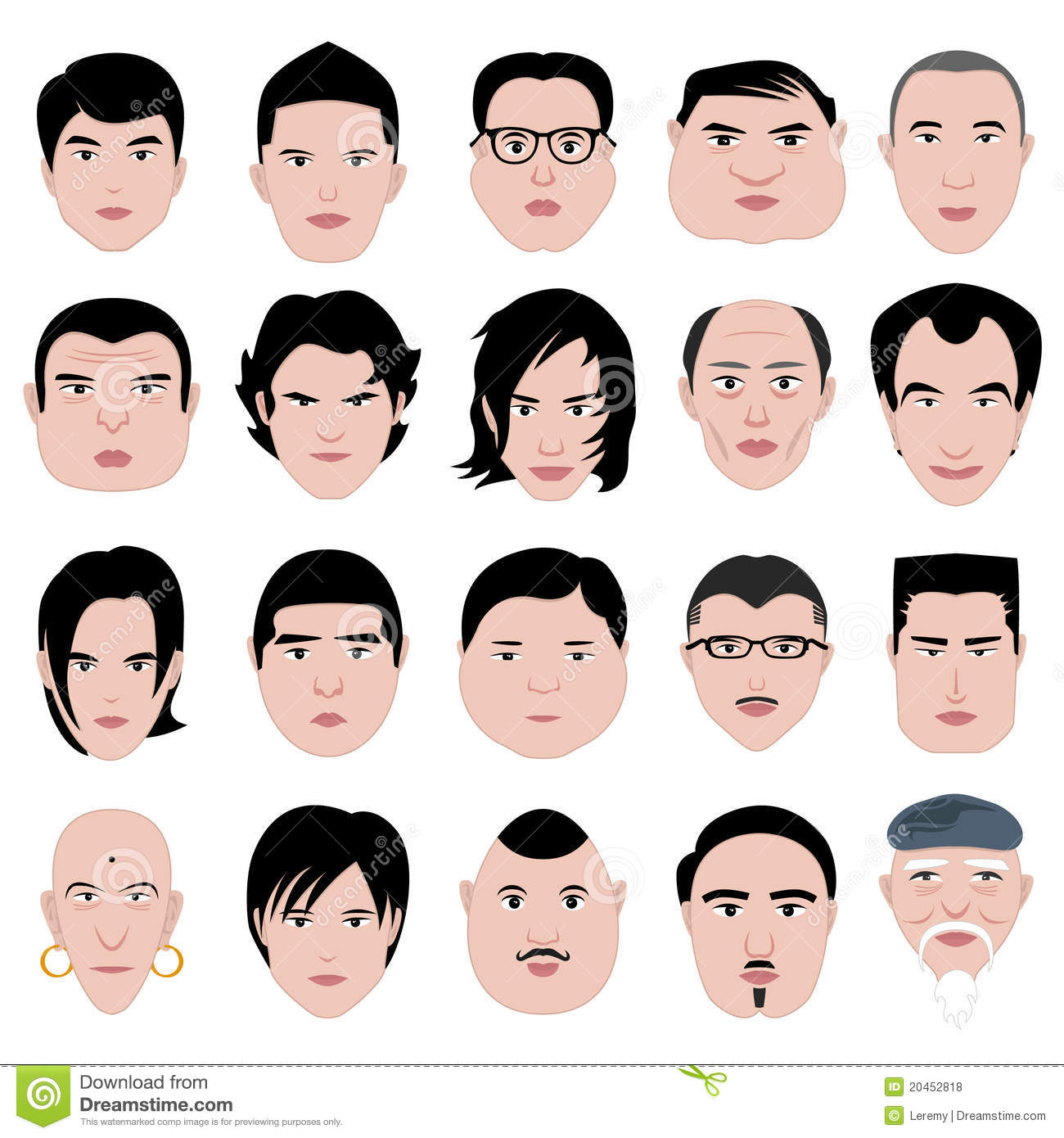Swell Oval Face Shape Stock Vector Image 66330507 Short Hairstyles Gunalazisus