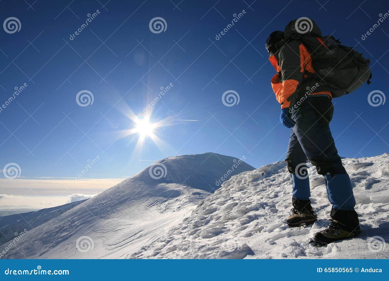 Man facing the sun