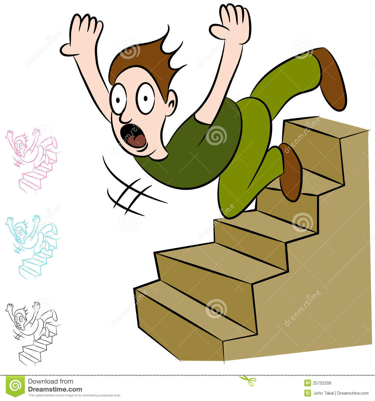 slip and fall clip art free - photo #17