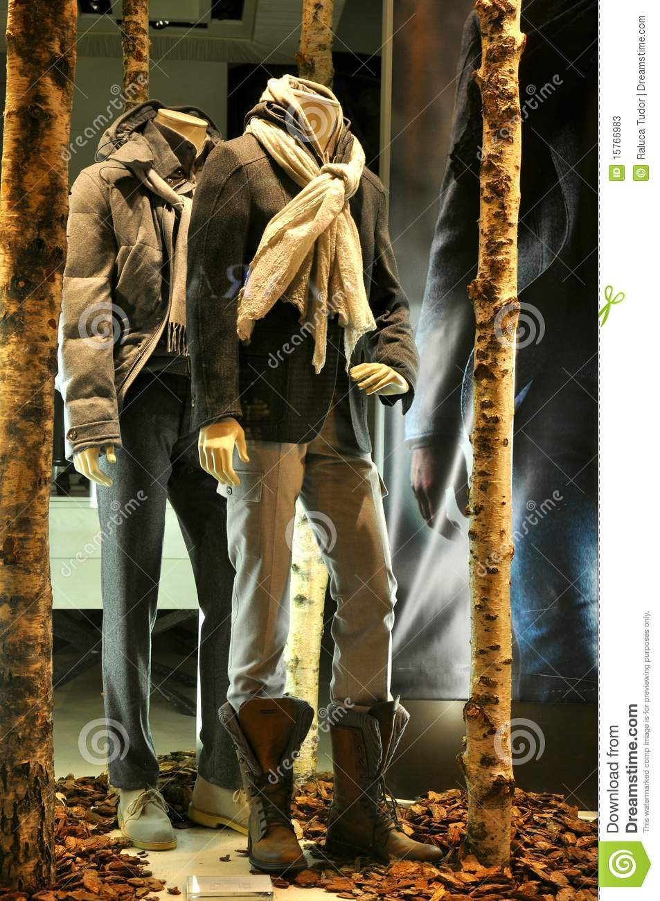 Man Fashion Store Window In Italy Stock Photos Image