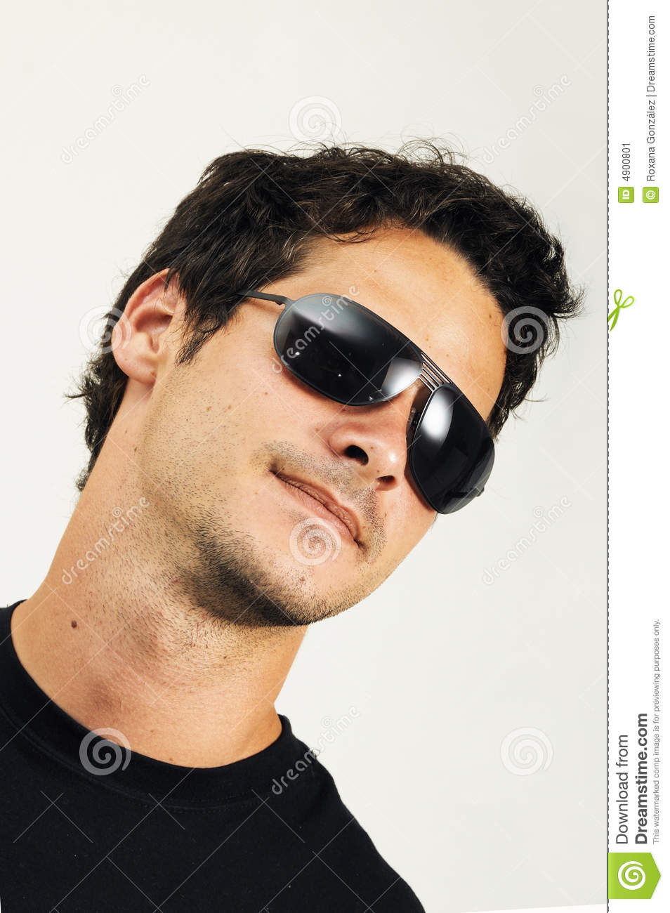 Man with fashion sunglasses