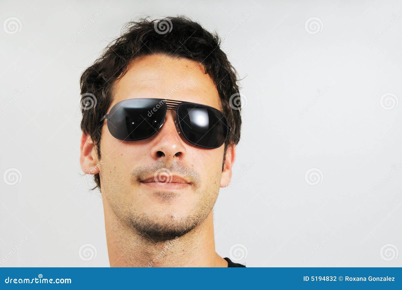 Man with fashion sunglasses