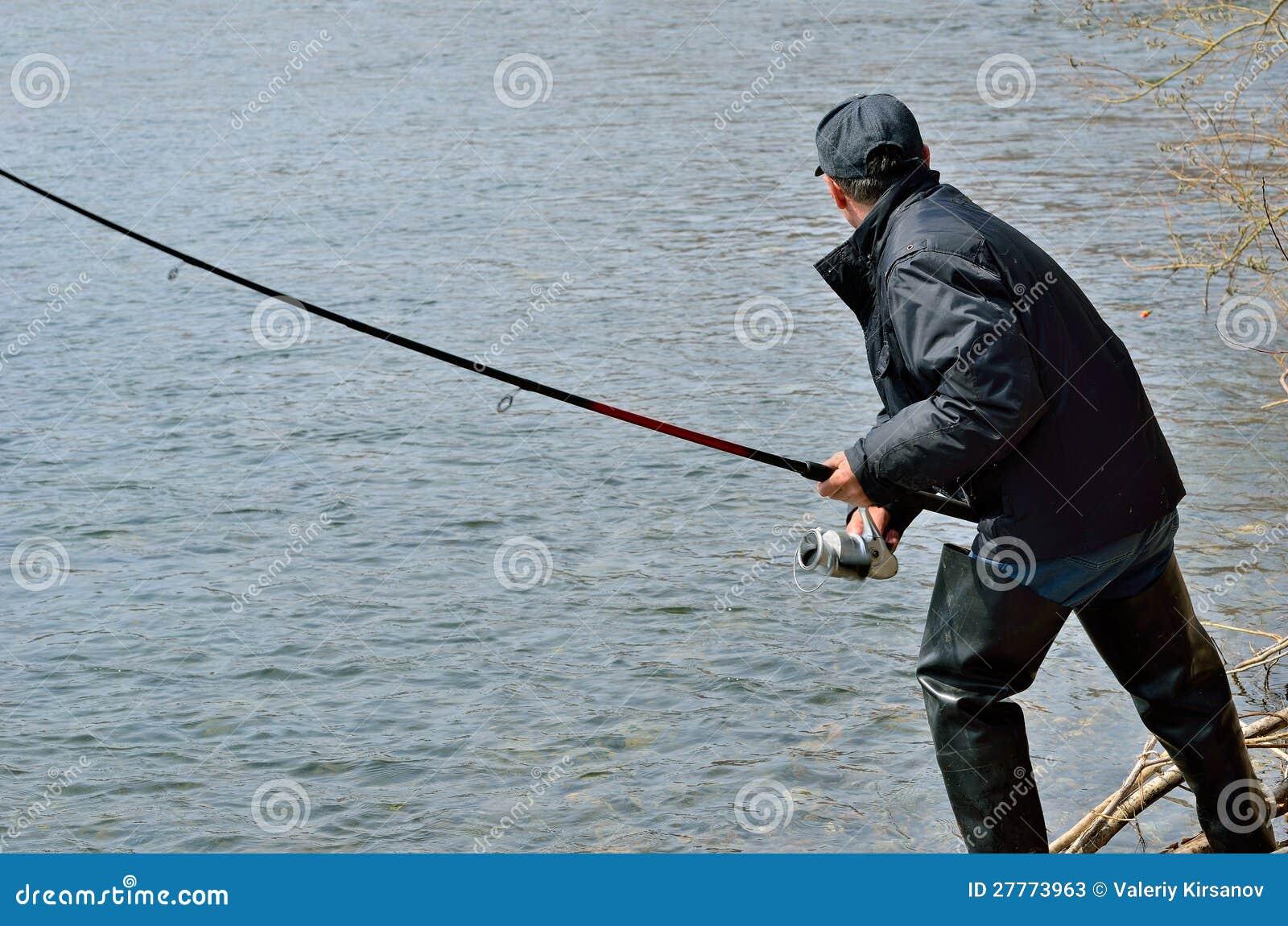 Man on fishing 13 stock photos image 27773963 for Z man fishing