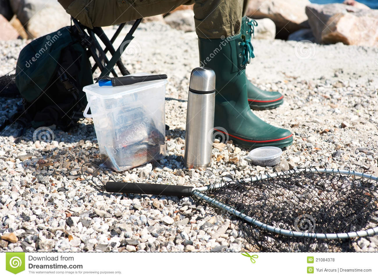 Royalty free stock photos man with fishing equipment for Z man fishing products