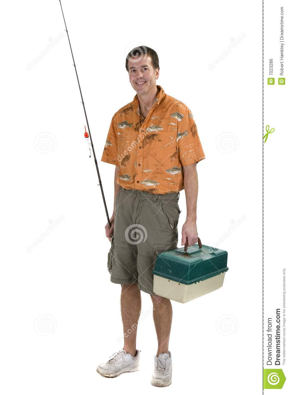 Man with fishing gear royalty free stock image image for Z man fishing products