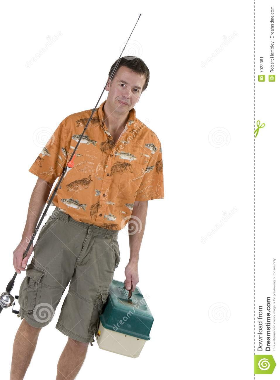 Man with fishing gear stock image image 7023361 for Z man fishing products