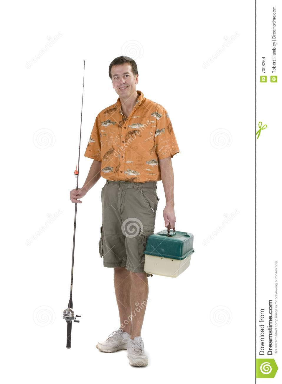 Man with fishing gear stock images image 7098254 for Z man fishing products