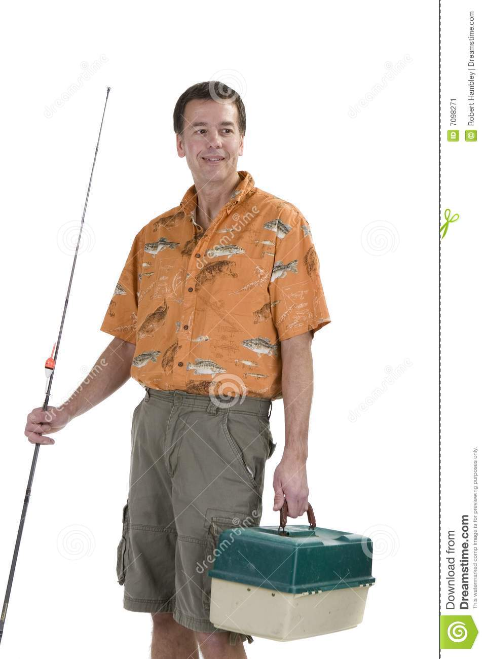 Man with fishing gear stock image image 7098271 for Z man fishing products