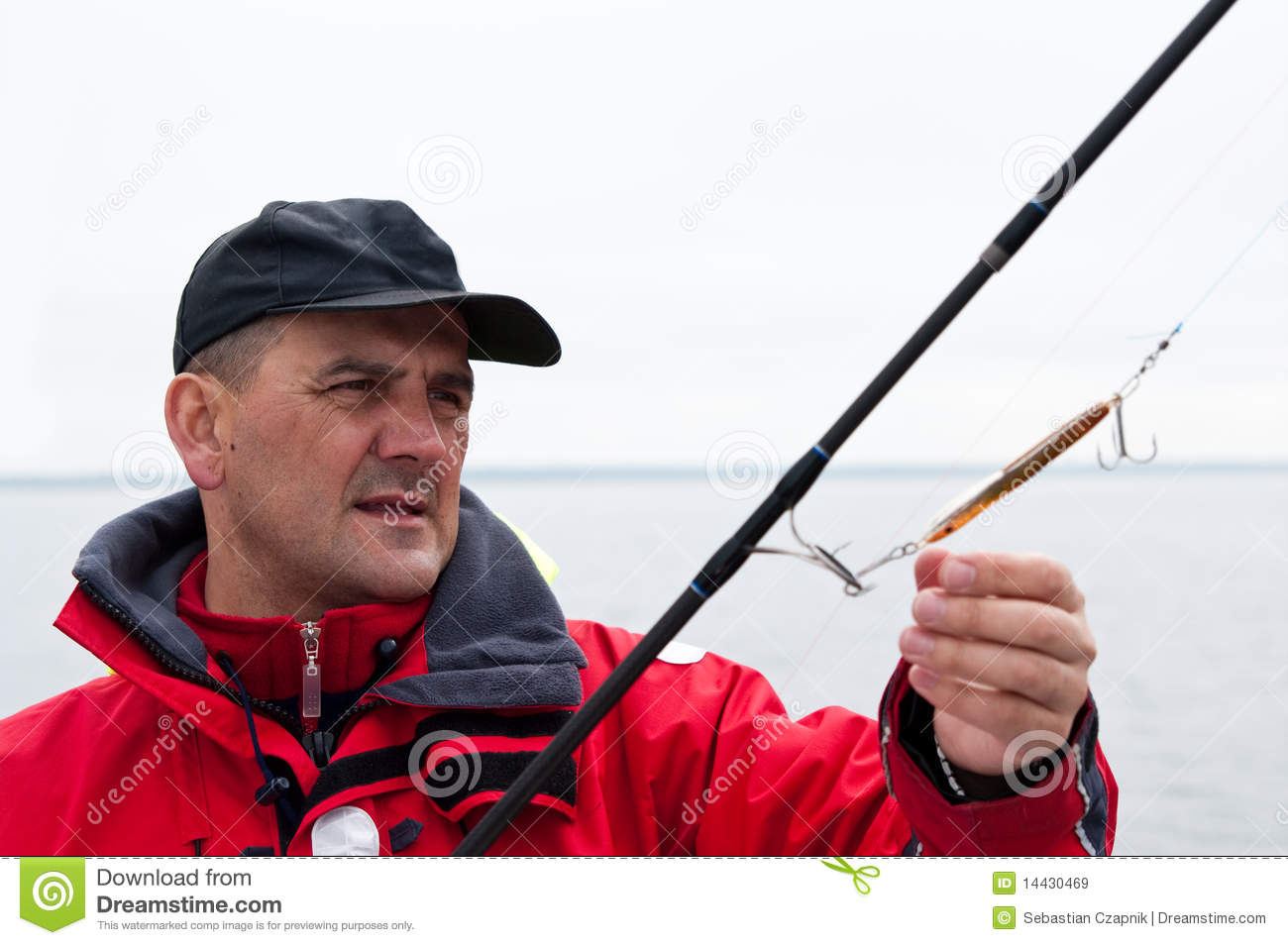 Man with fishing rod