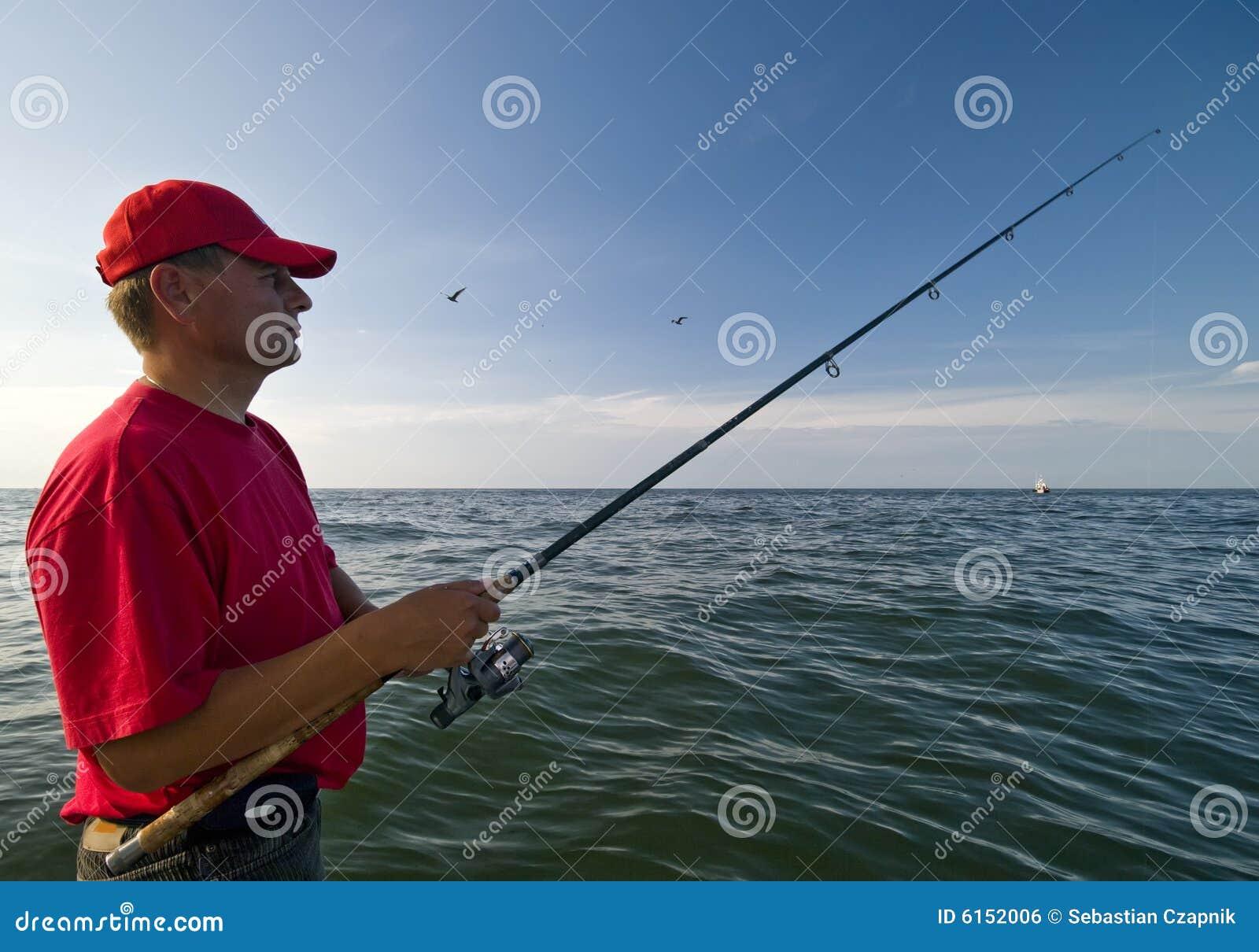 Man fishing at sea royalty free stock image image 6152006 for Z man fishing