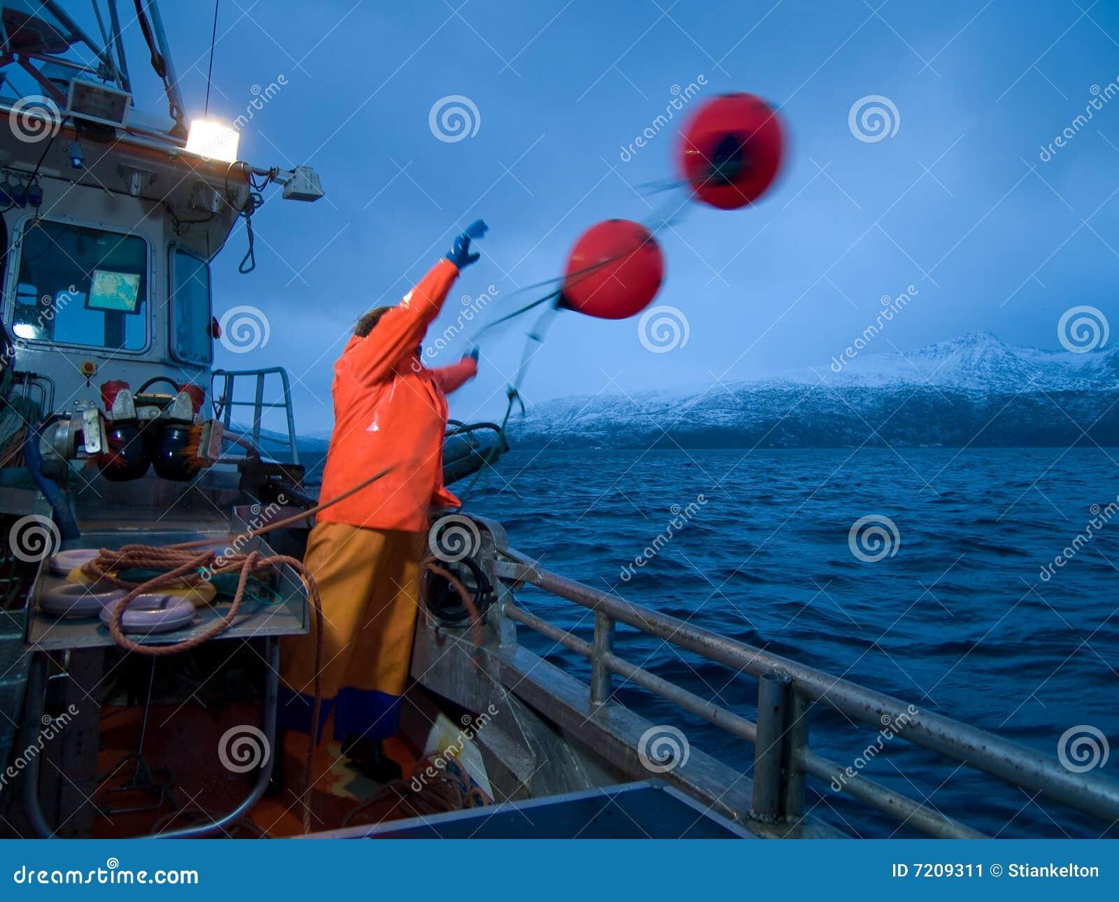 Man on fishingboat stock image image 7209311 for Z man fishing