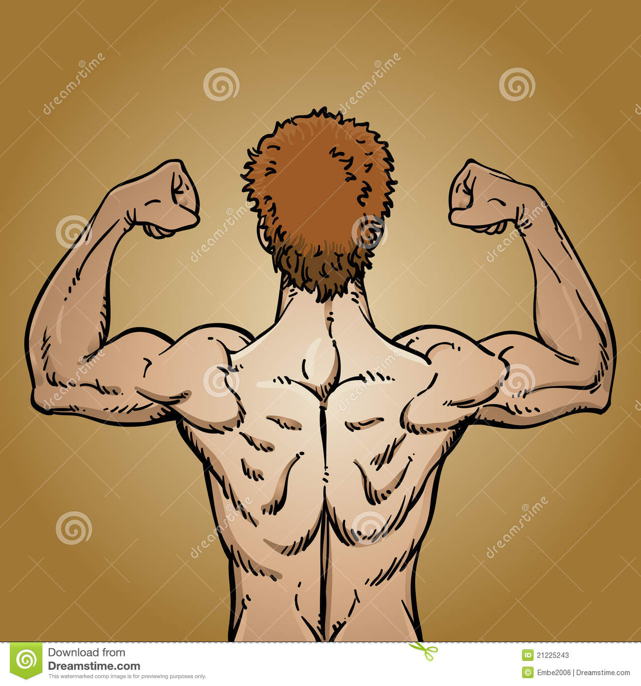 Man Flexing Muscles Stock Vector Illustration Of Anatomy 21225243