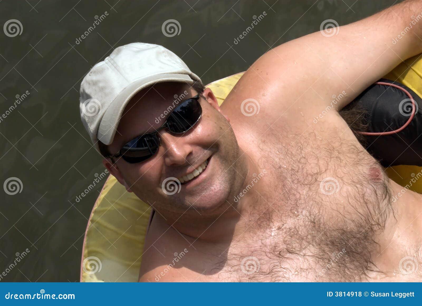 Man on a float