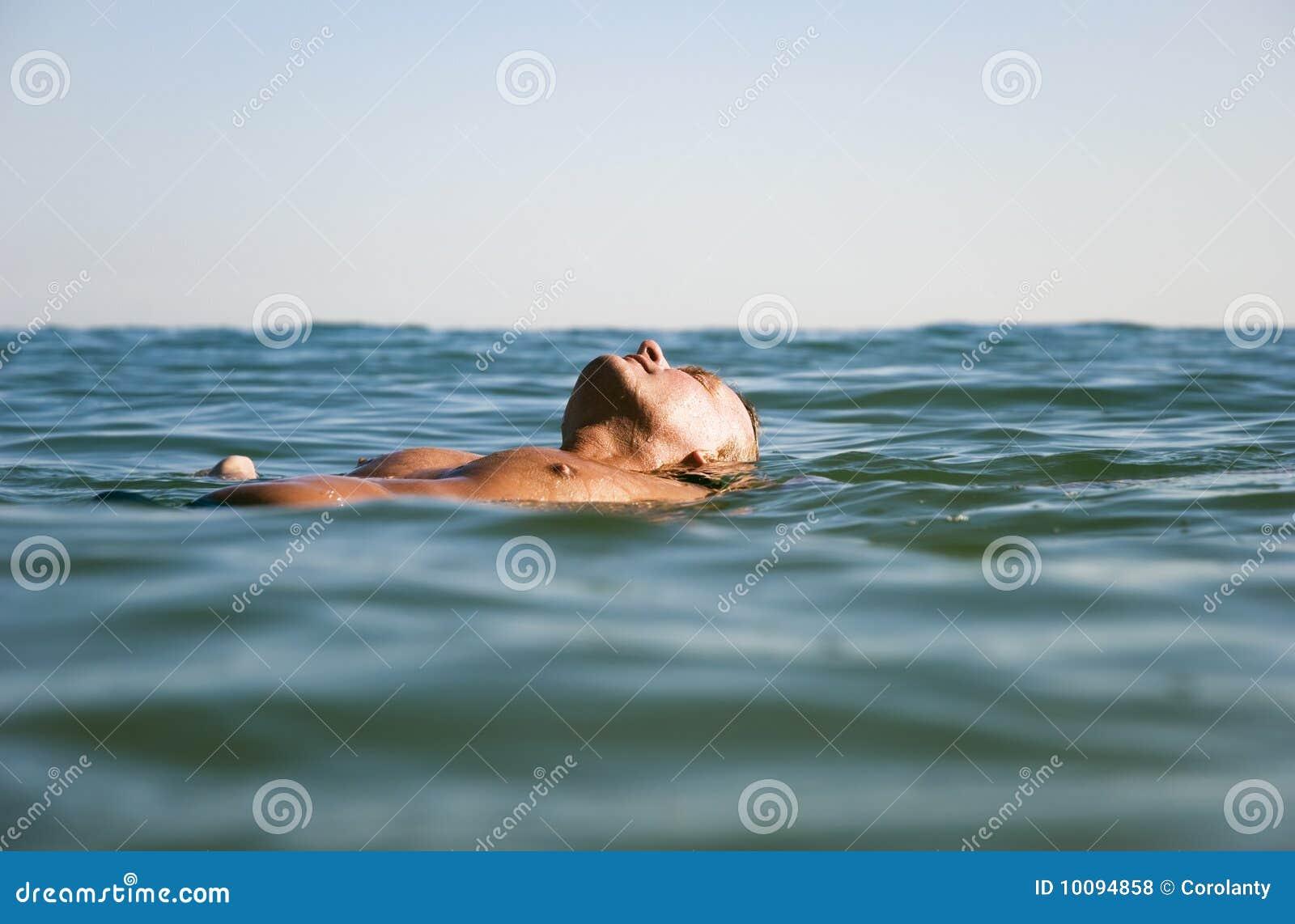 Man Floating in WaterModel Floating In Water