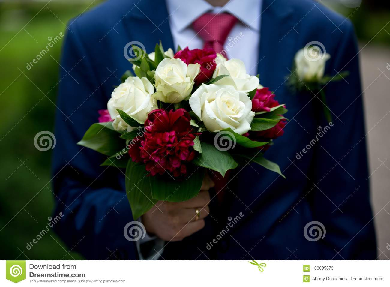 Man with flower bouquet stock image image of love birthday 108095673 man with flower bouquet izmirmasajfo Gallery