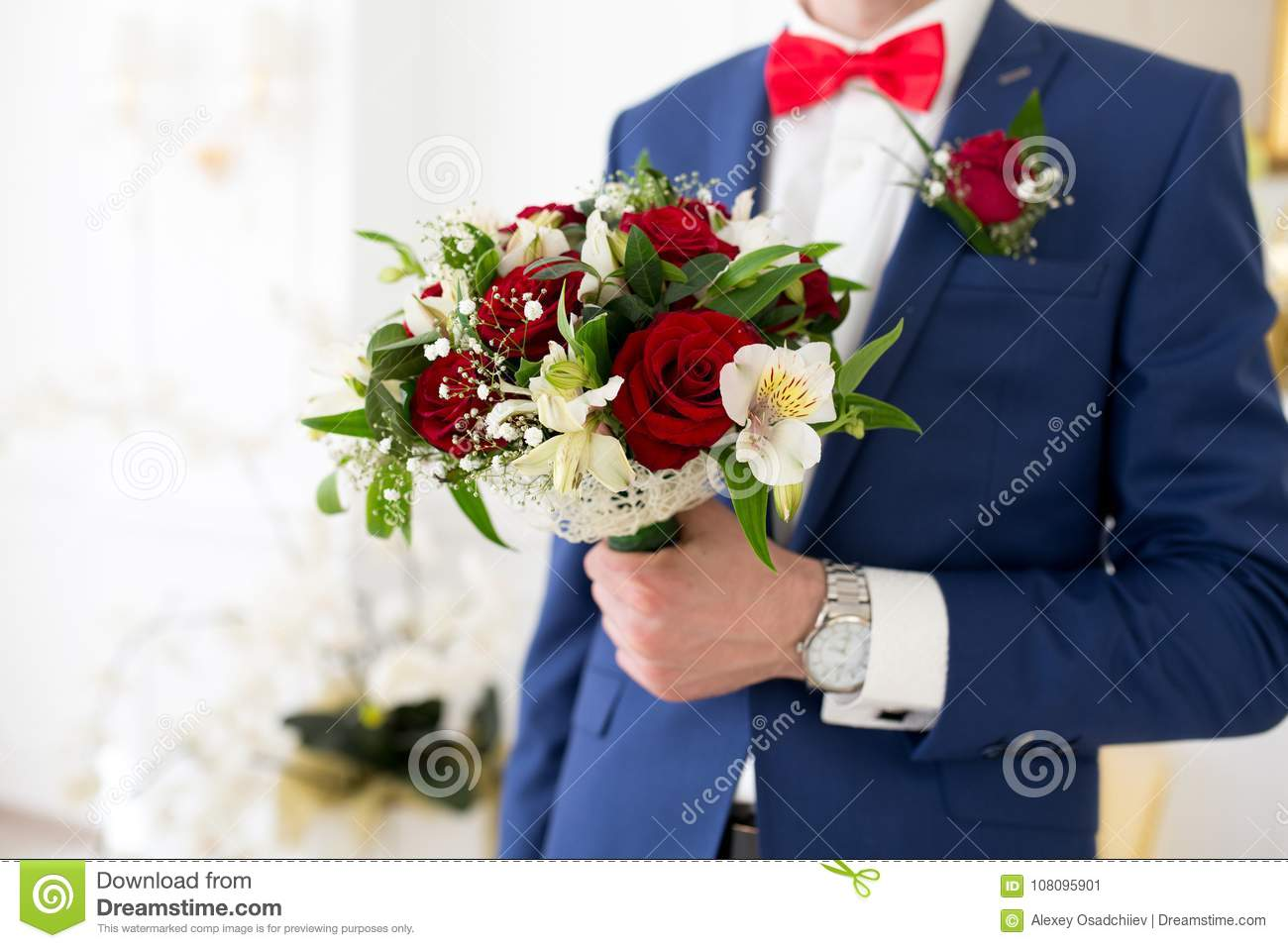 Man with flower bouquet stock image image of holiday 108095901 man with flower bouquet izmirmasajfo Gallery