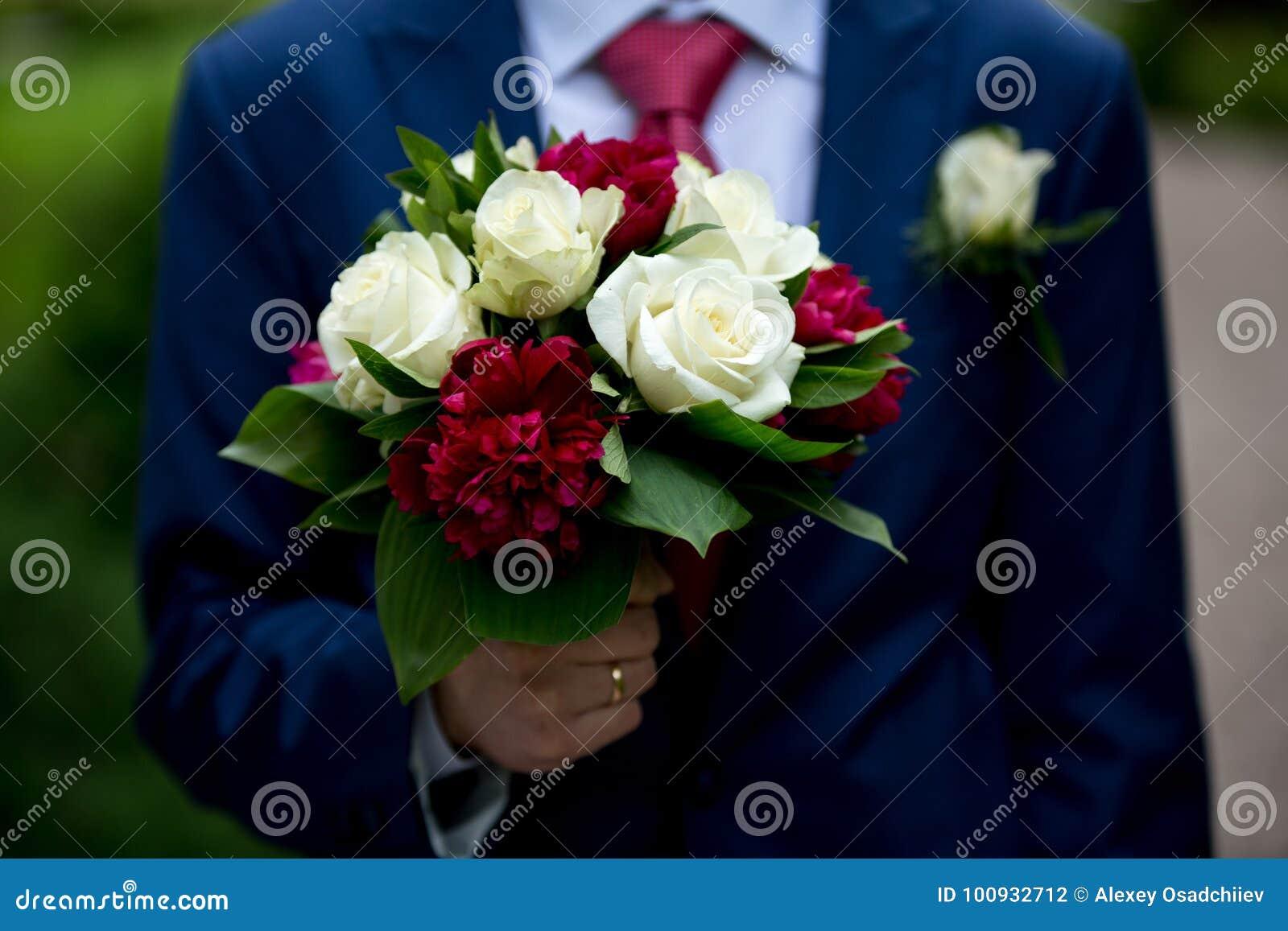 Man with flower bouquet stock photo image of garden 100932712 download comp izmirmasajfo
