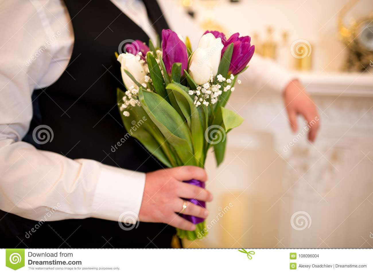 Man with flower bouquet stock photo image of love color 108096004 man with flower bouquet izmirmasajfo Gallery