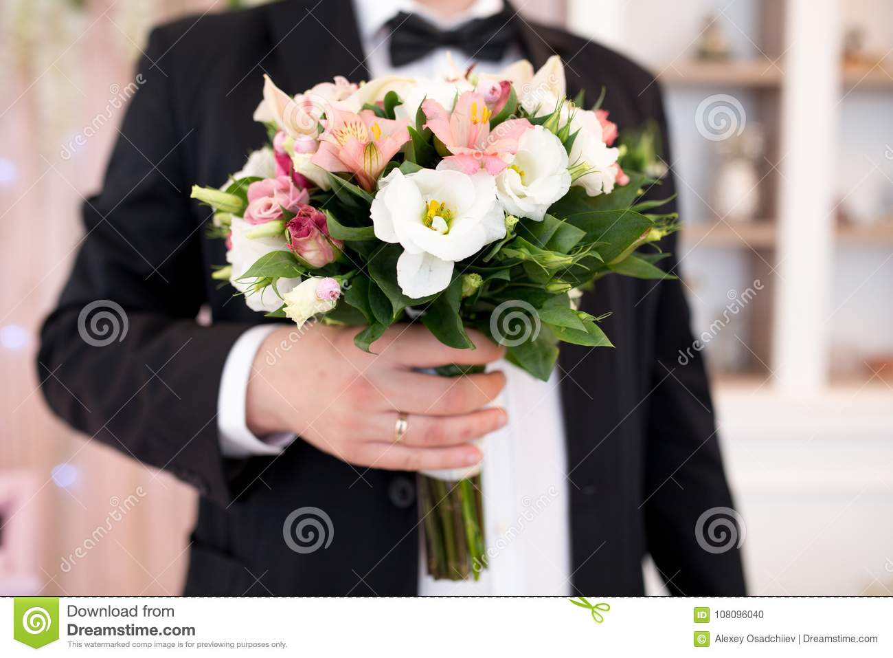 Man with flower bouquet stock photo image of event 108096040 man with flower bouquet izmirmasajfo Gallery