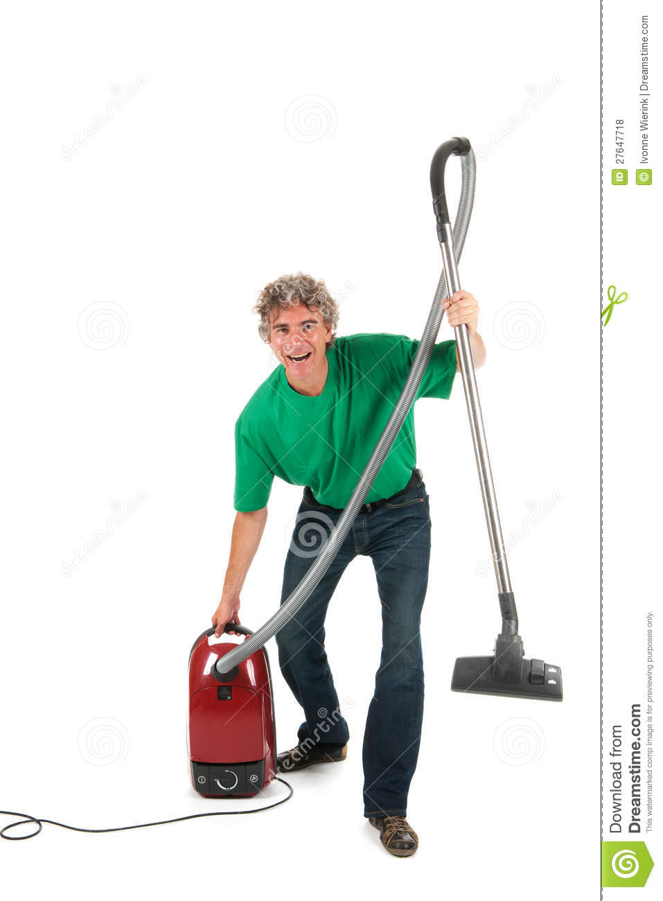 man with fun while housekeeping royalty free stock photos