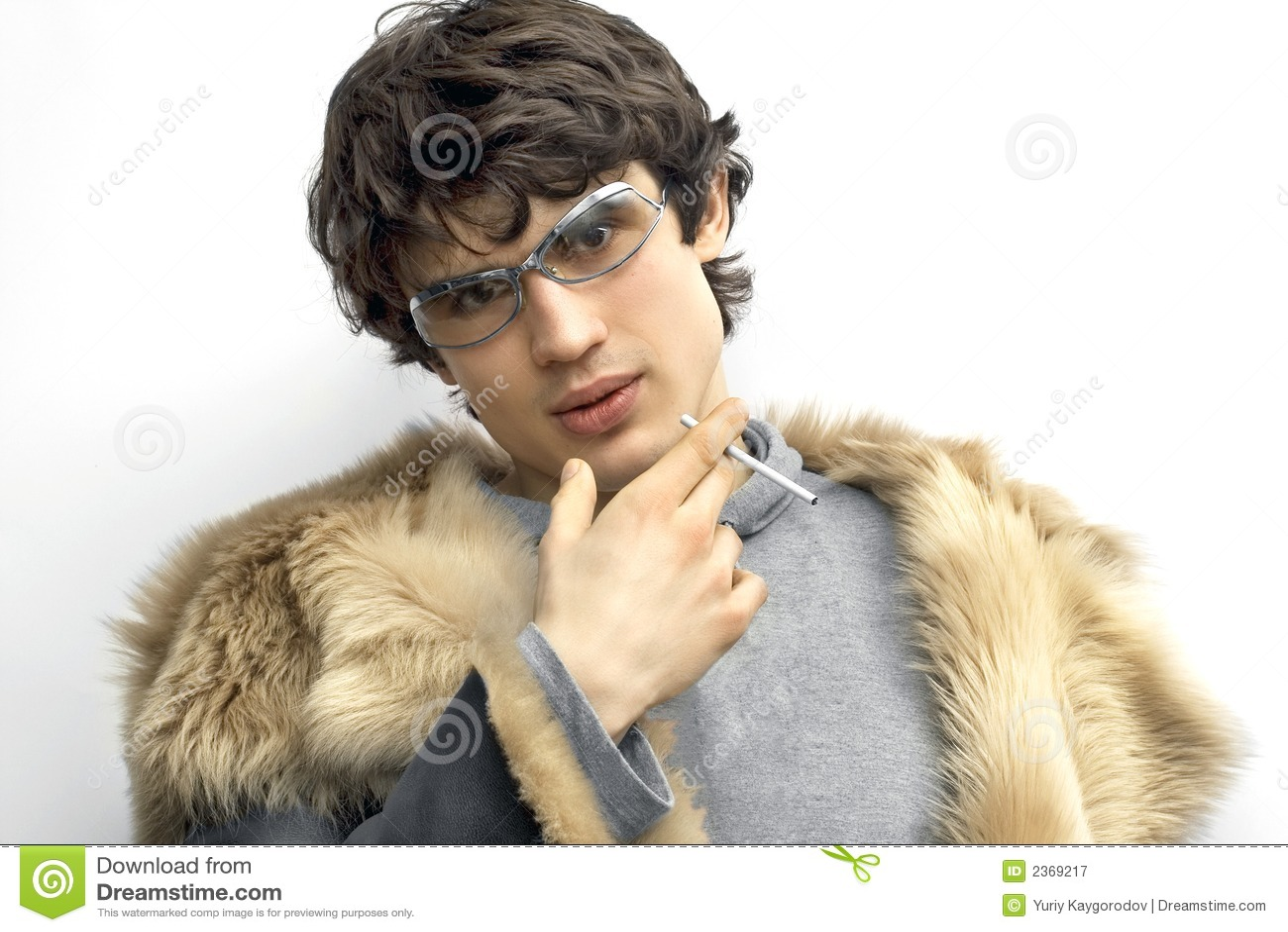 Man in fur