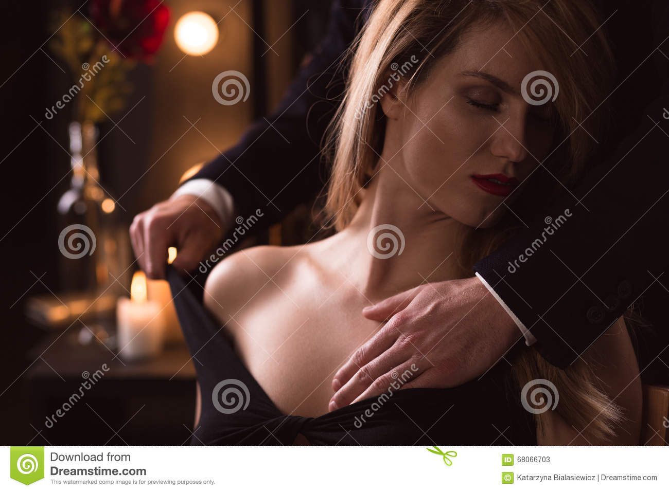 Elegant Woman Has Sex With A Man