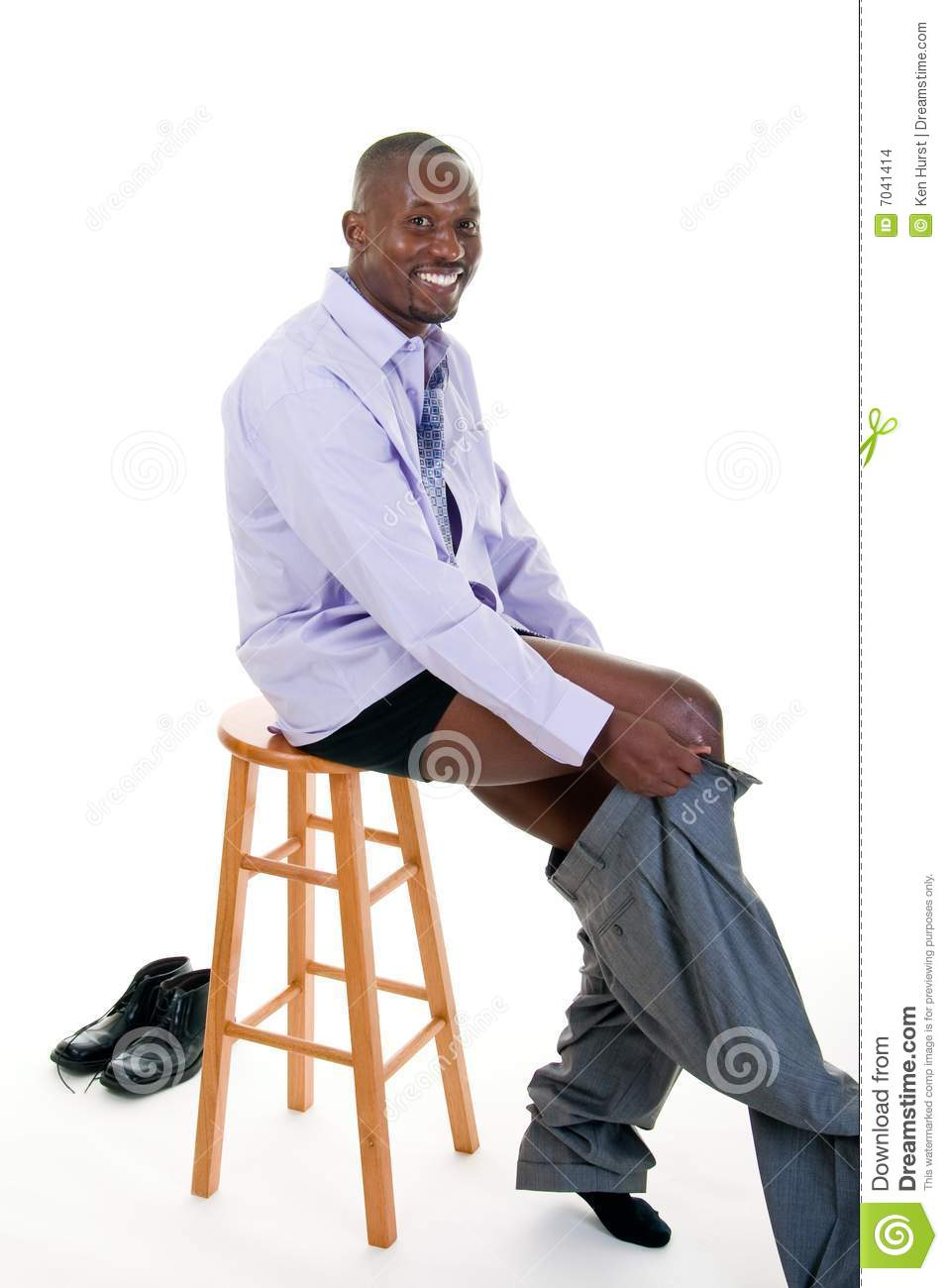 Man Getting Dressed Stock Photo. Image Of Dressing