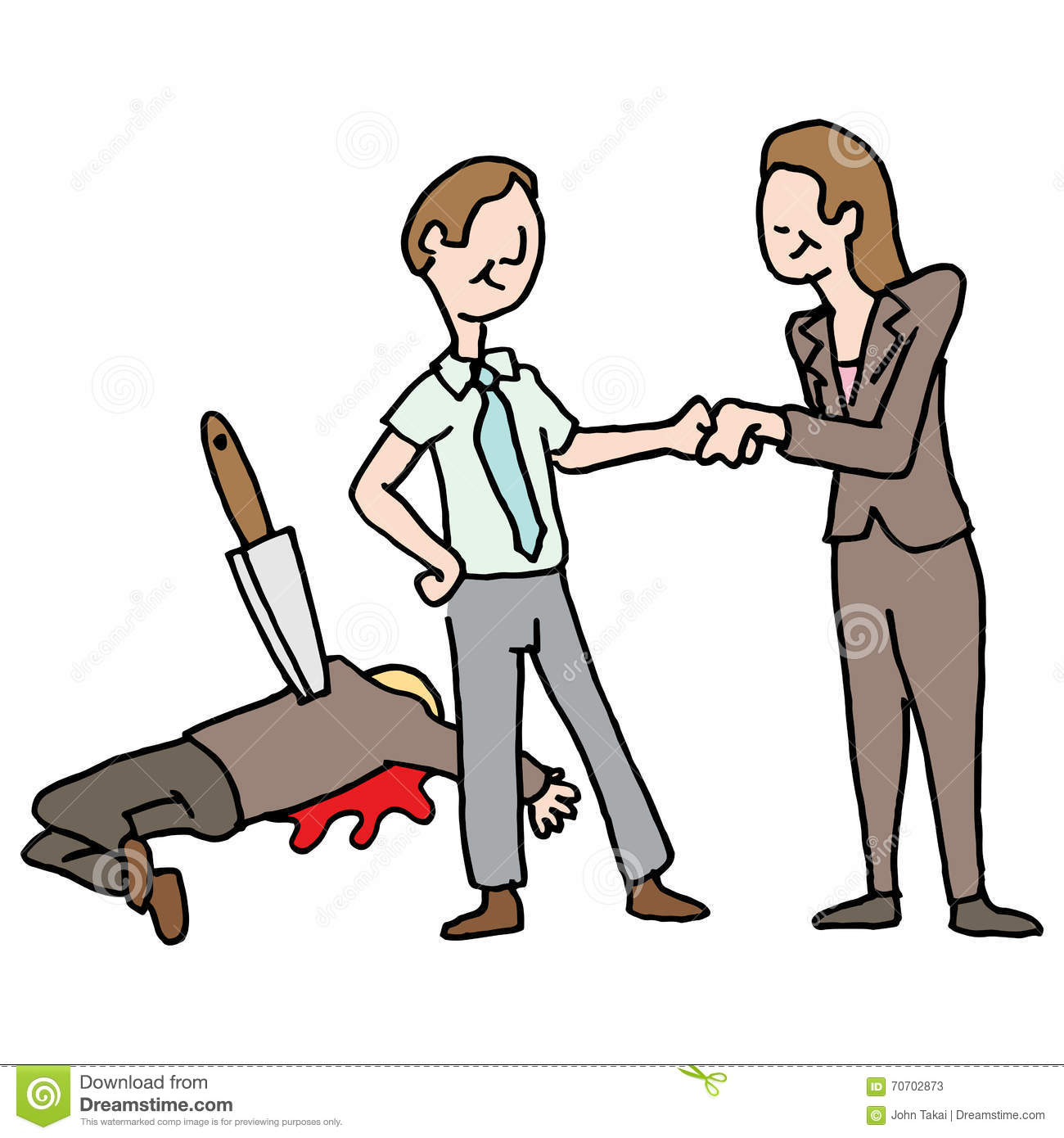 man getting a promotion by backstabbing his co worker stock vector man getting a promotion by backstabbing his co worker