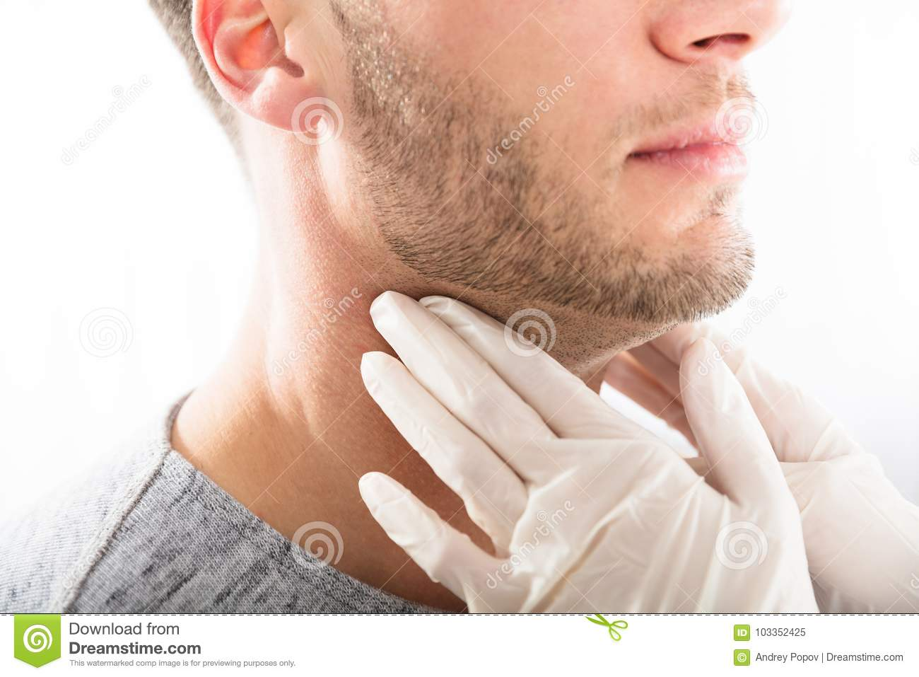 What are the functions of the thyroid gland in men