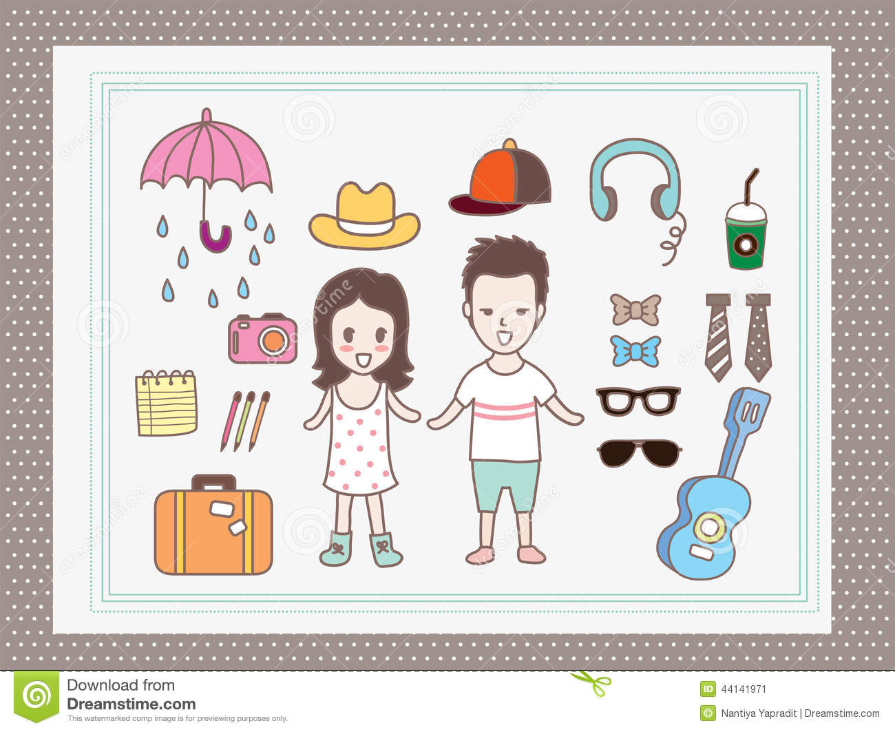 Character cartoon boy and girl man and woman cute charactercute ...