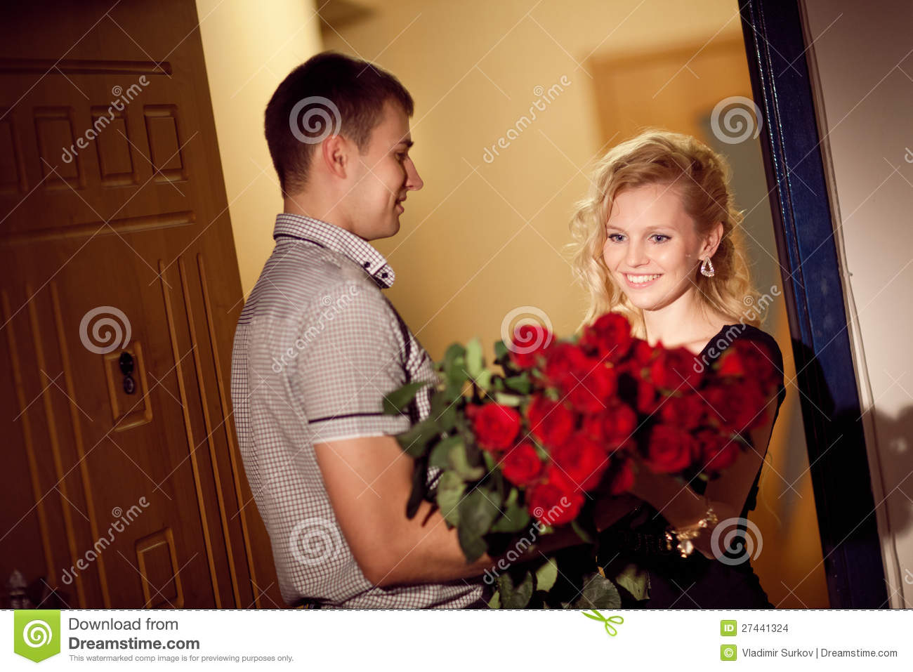Image result for boy give rose to girl