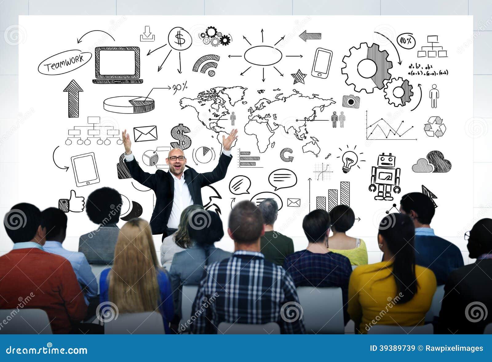 Man Giving A Casual Presentation