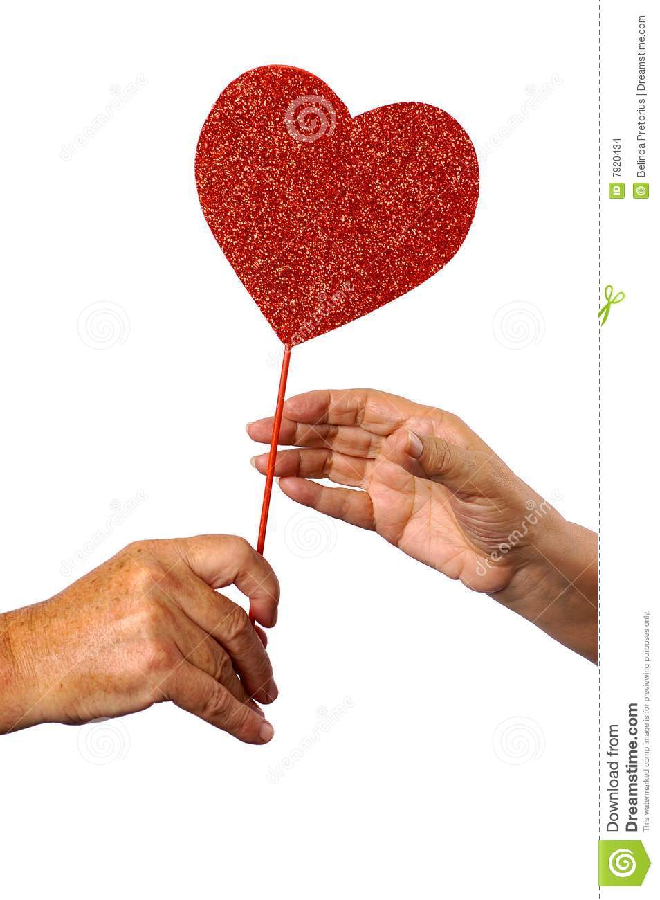 A Man Giving A Female A Heart Stock Images - Image: 7920434