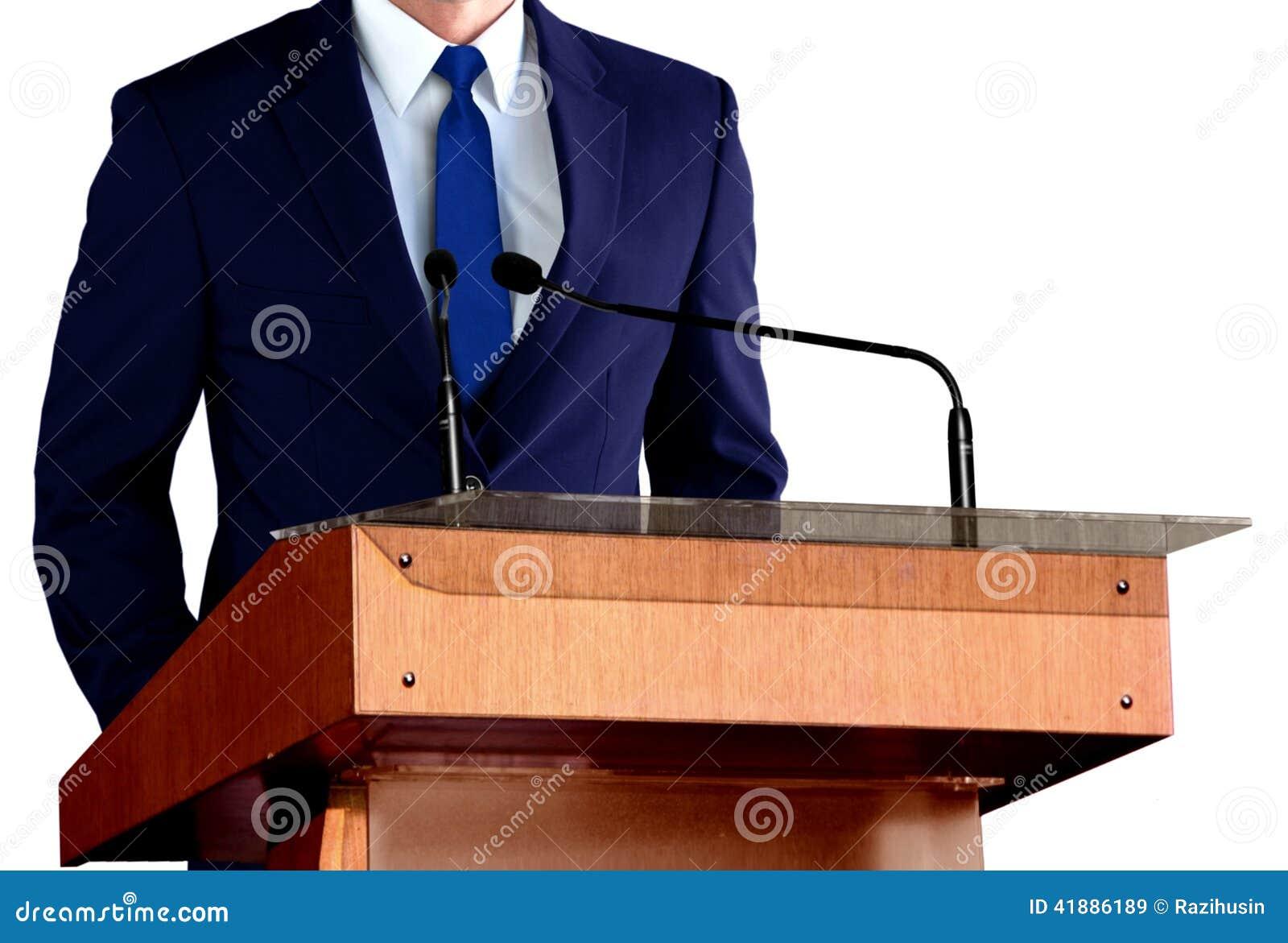 Man Giving Speech Stock Photo - Image: 41886189
